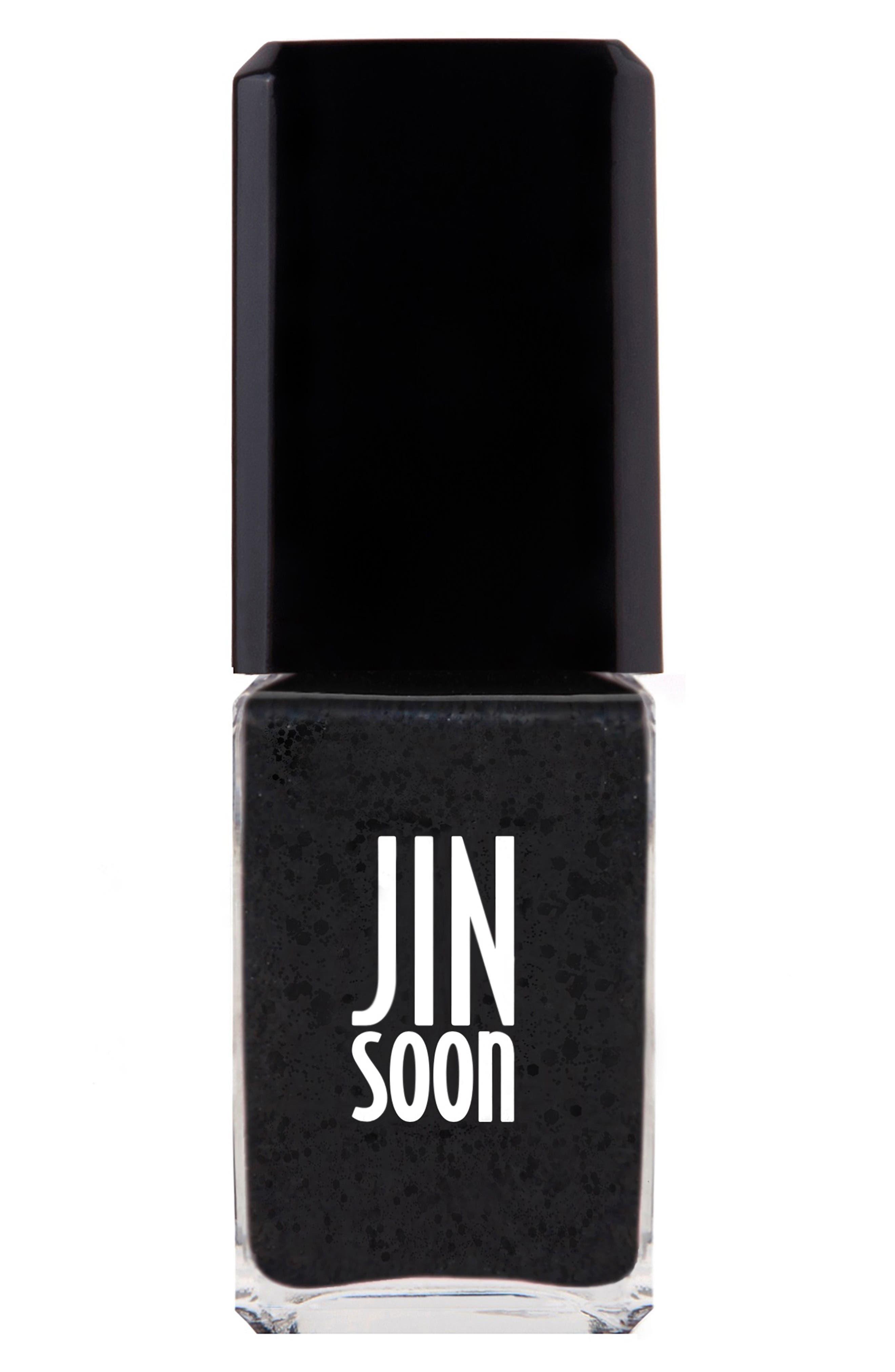 JINSOON 'Polka Black' Nail Lacquer, Main, color, 002