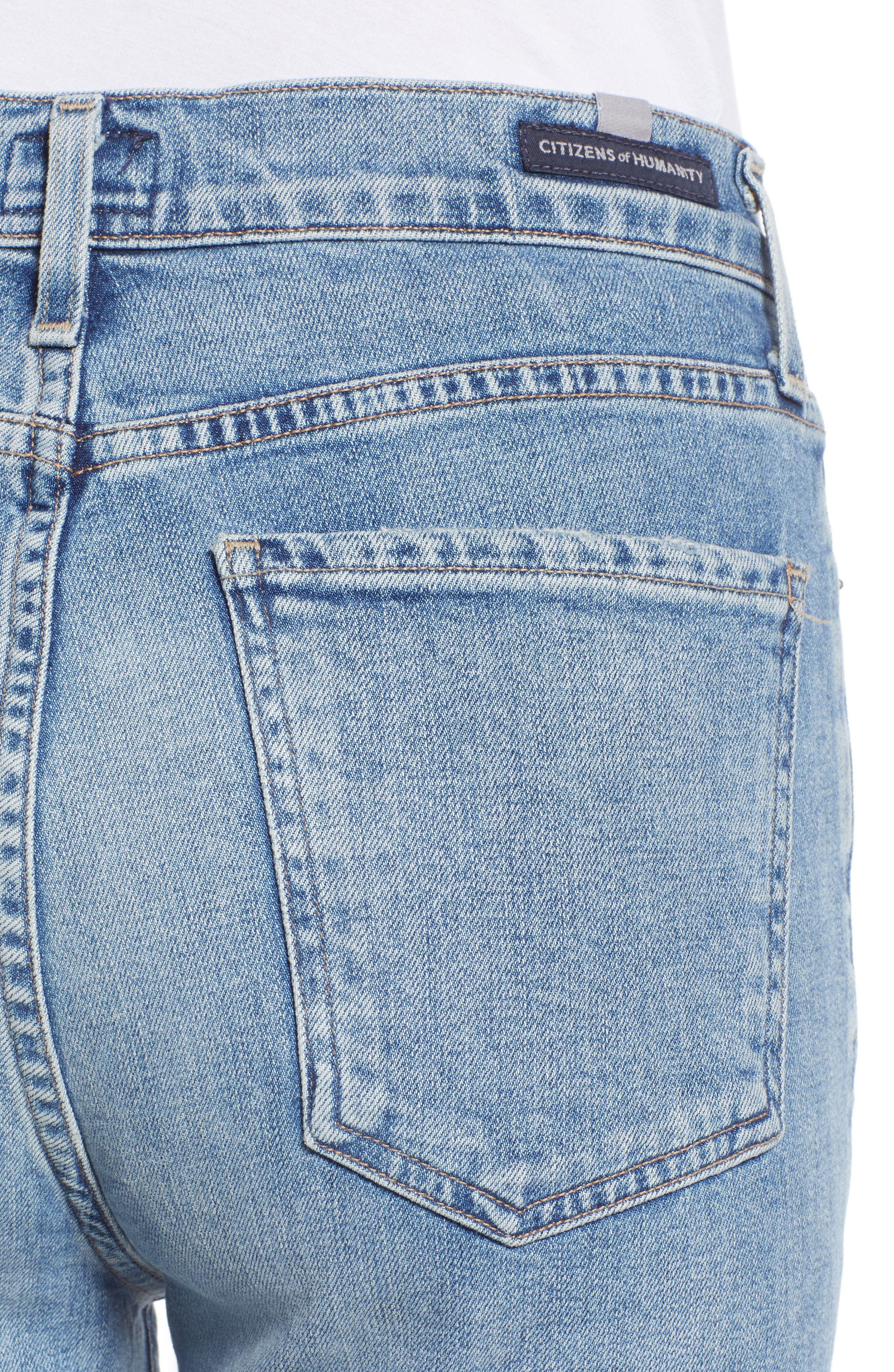 CITIZENS OF HUMANITY, Olivia High Waist Ankle Slim Jeans, Alternate thumbnail 5, color, BACK ROAD