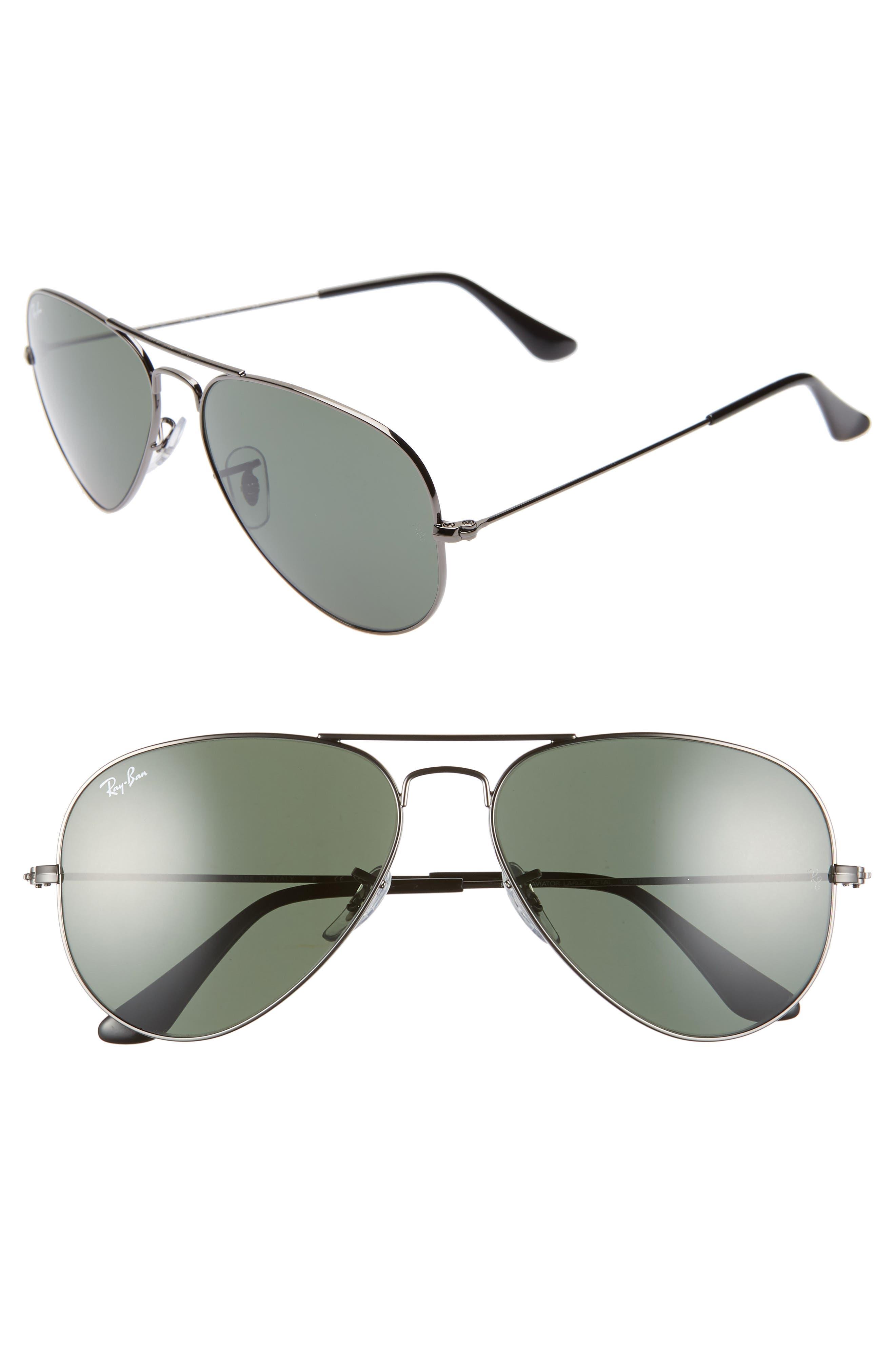 Ray-Ban Standard Original 5m Aviator Sunglasses - Gunmetal