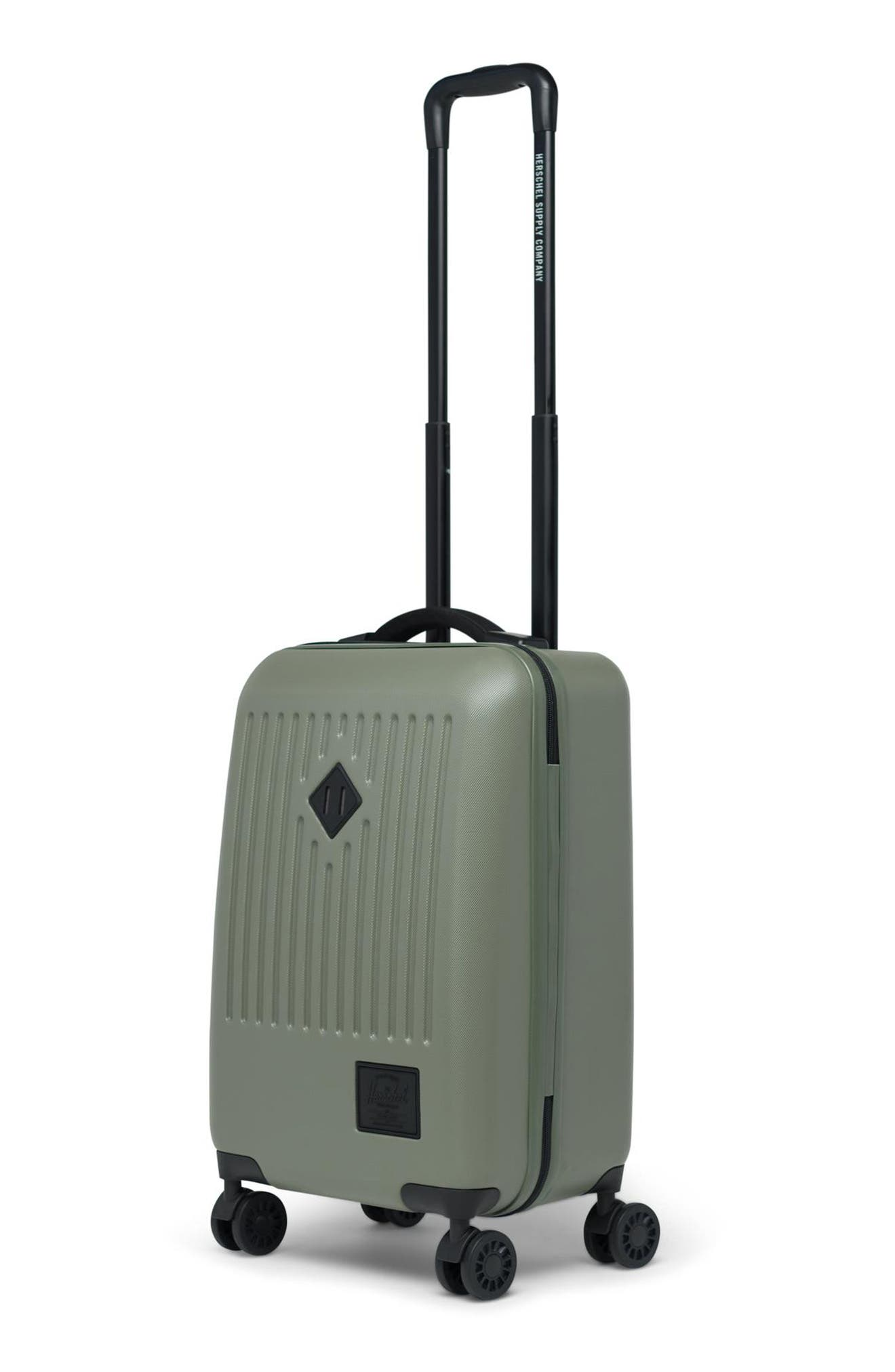 HERSCHEL SUPPLY CO., Small Trade 23-Inch Rolling Suitcase, Alternate thumbnail 5, color, OLIVE NIGHT