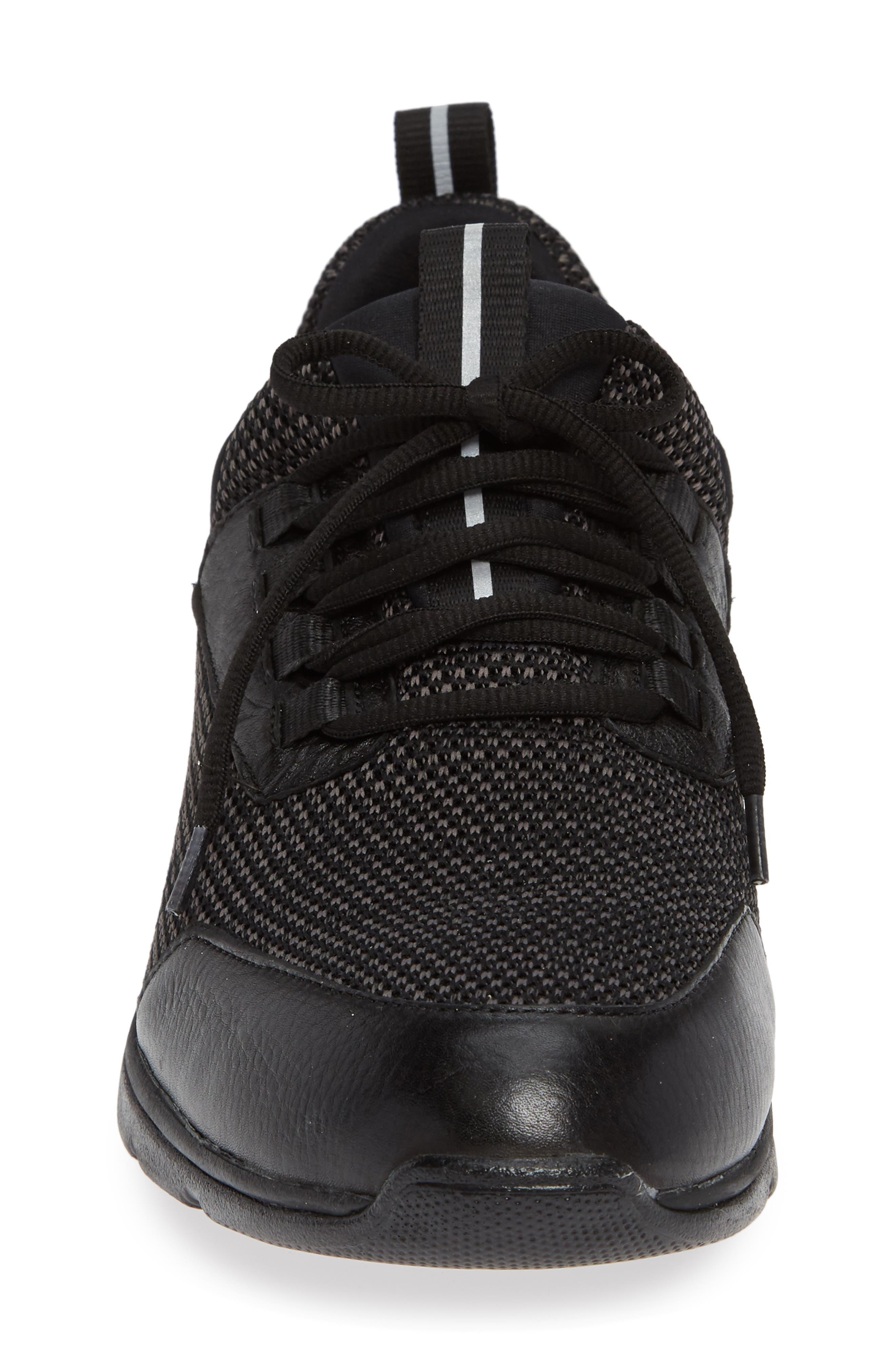 JOHNSTON & MURPHY, Prentiss XC4<sup>®</sup> Waterproof Sneaker, Alternate thumbnail 4, color, BLACK LEATHER
