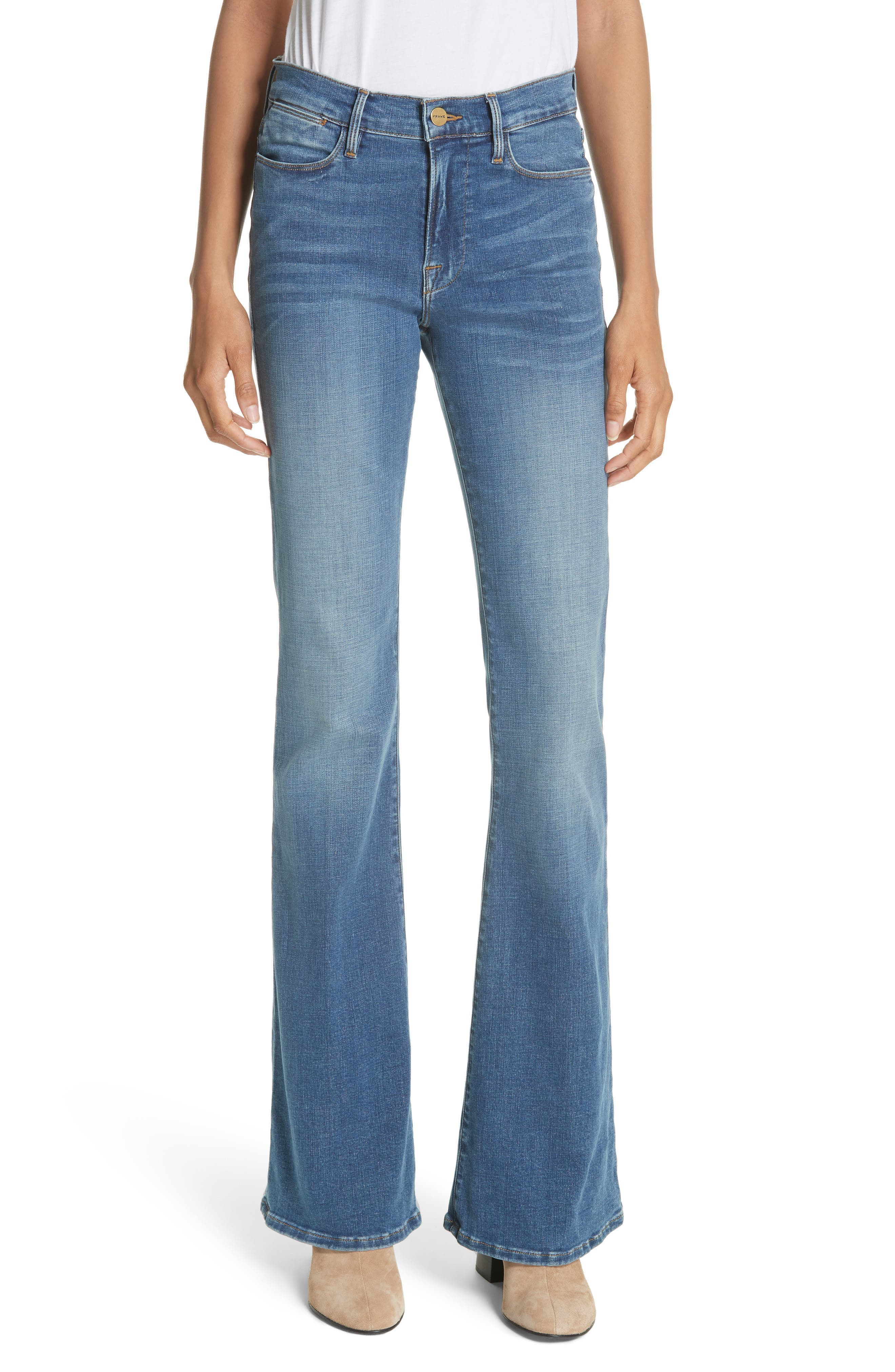 FRAME, Le High Flare Jeans, Main thumbnail 1, color, COLUMBUS