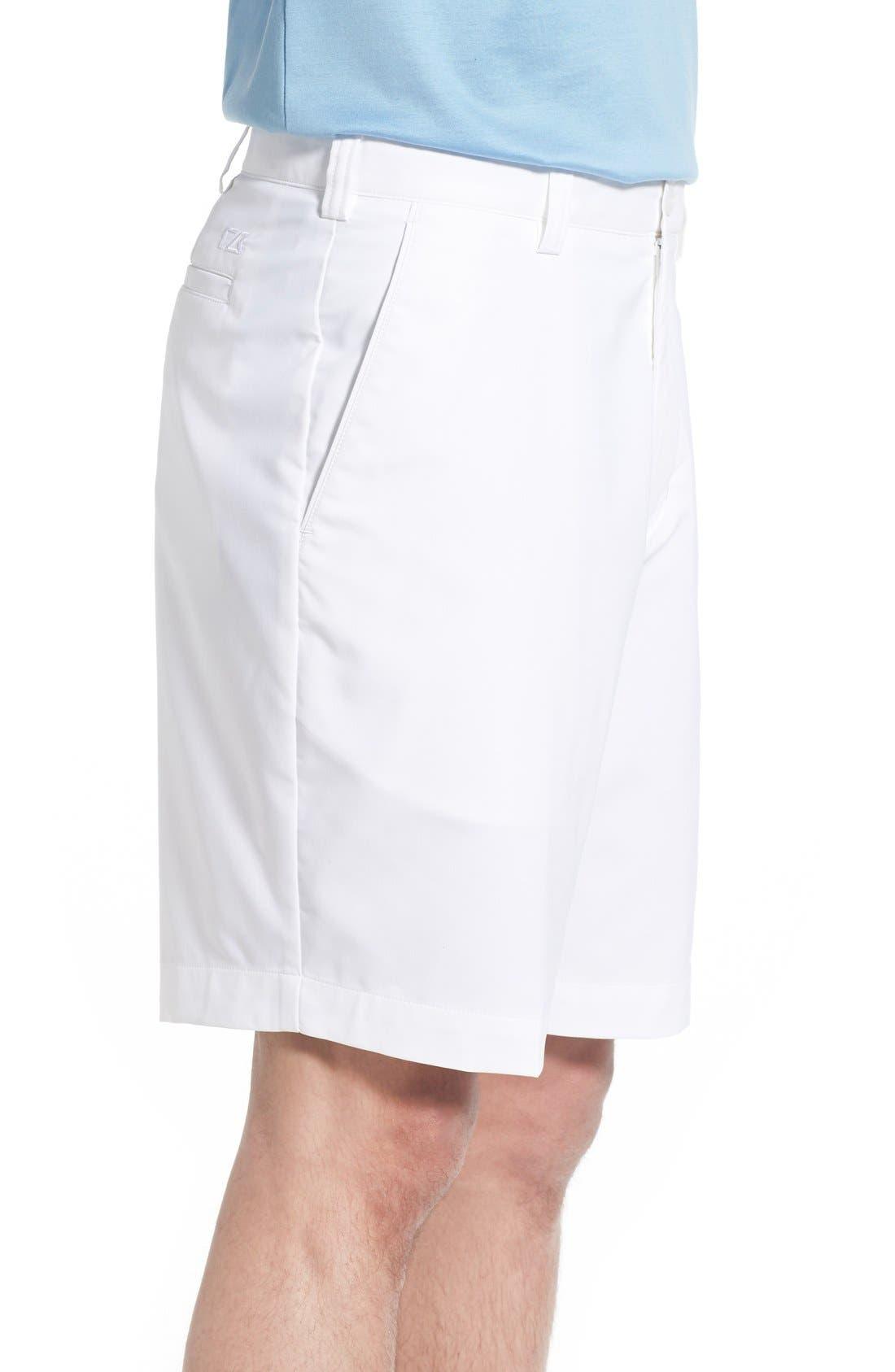 CUTTER & BUCK, DryTec Shorts, Alternate thumbnail 4, color, WHITE