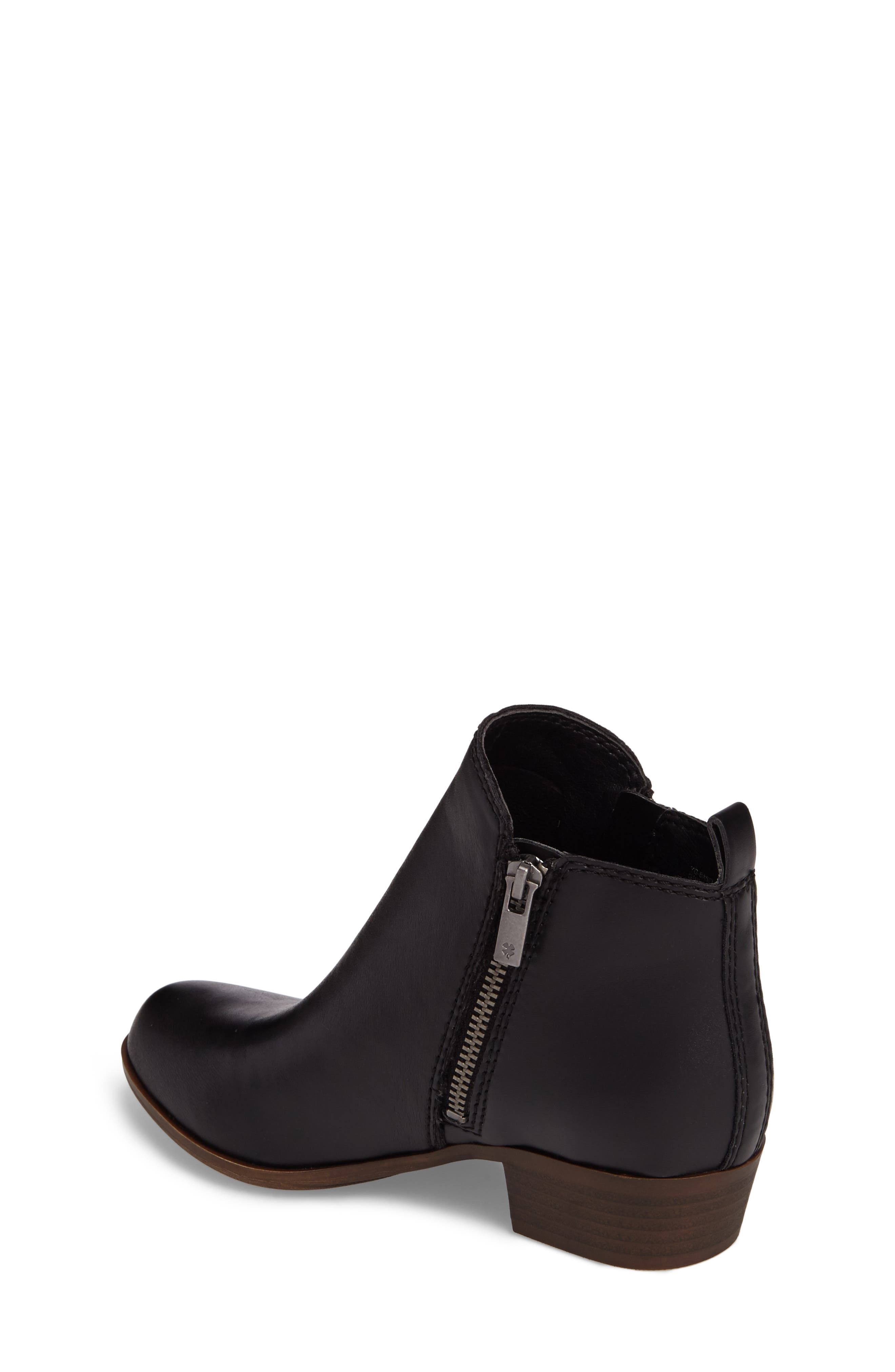 LUCKY BRAND, Basel Double-Zip Bootie, Alternate thumbnail 2, color, 001