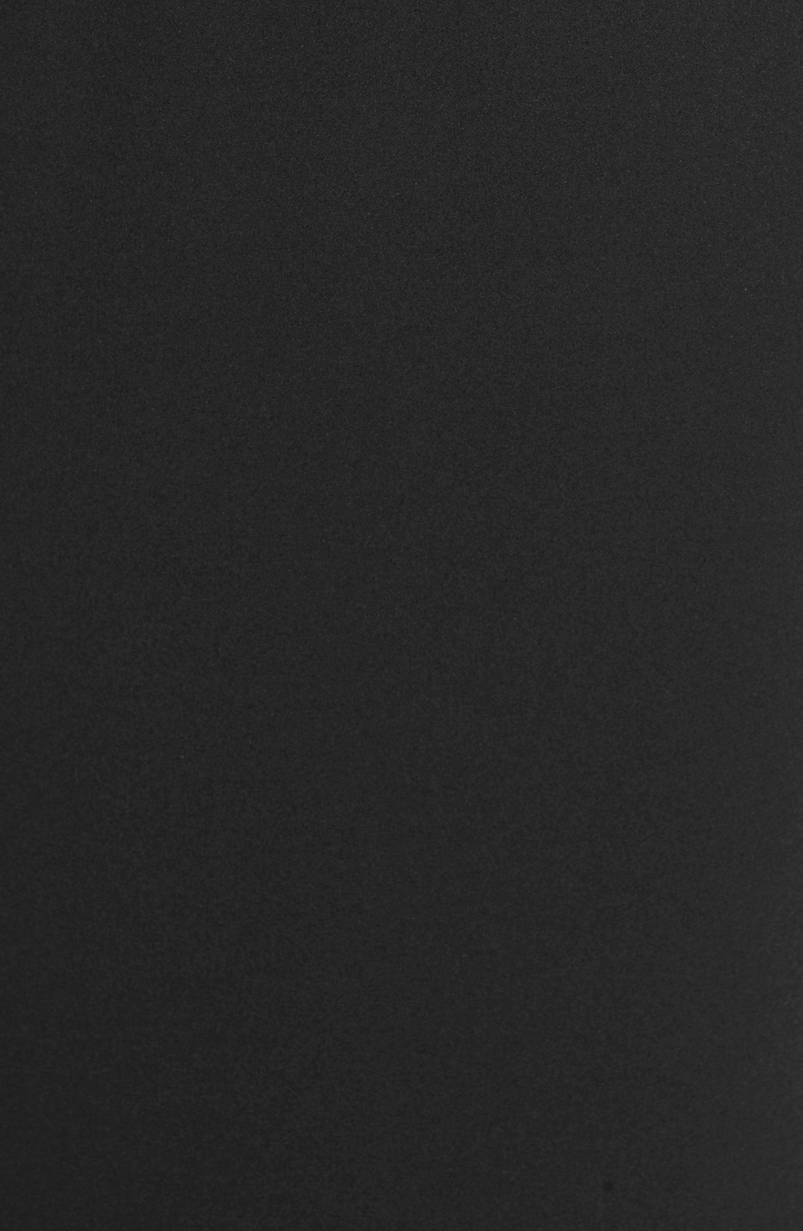 KATIE MAY, Vionnet Drape Back Crepe Gown, Alternate thumbnail 6, color, BLACK