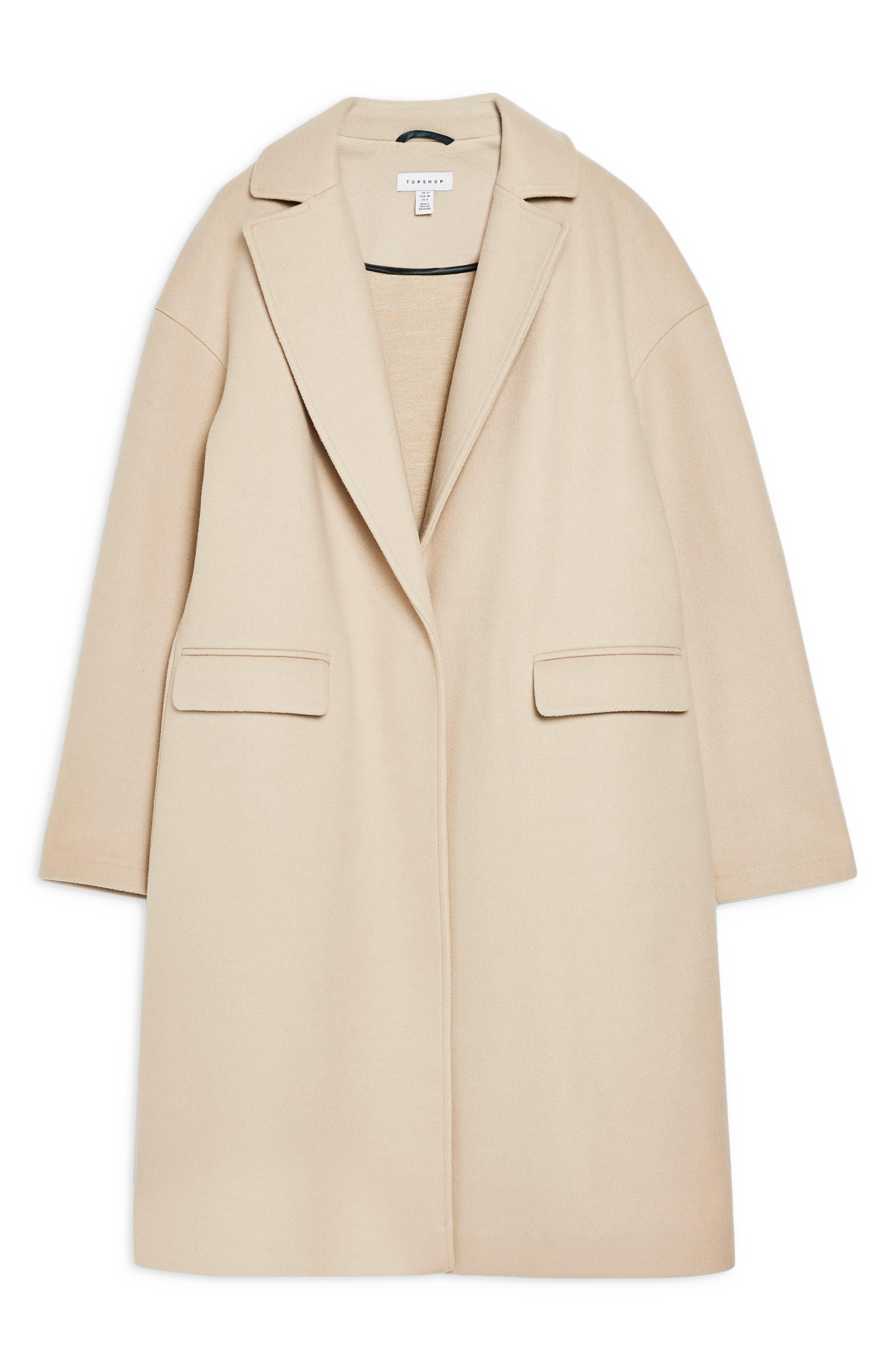 TOPSHOP, Lily Knit Back Midi Coat, Alternate thumbnail 5, color, 250
