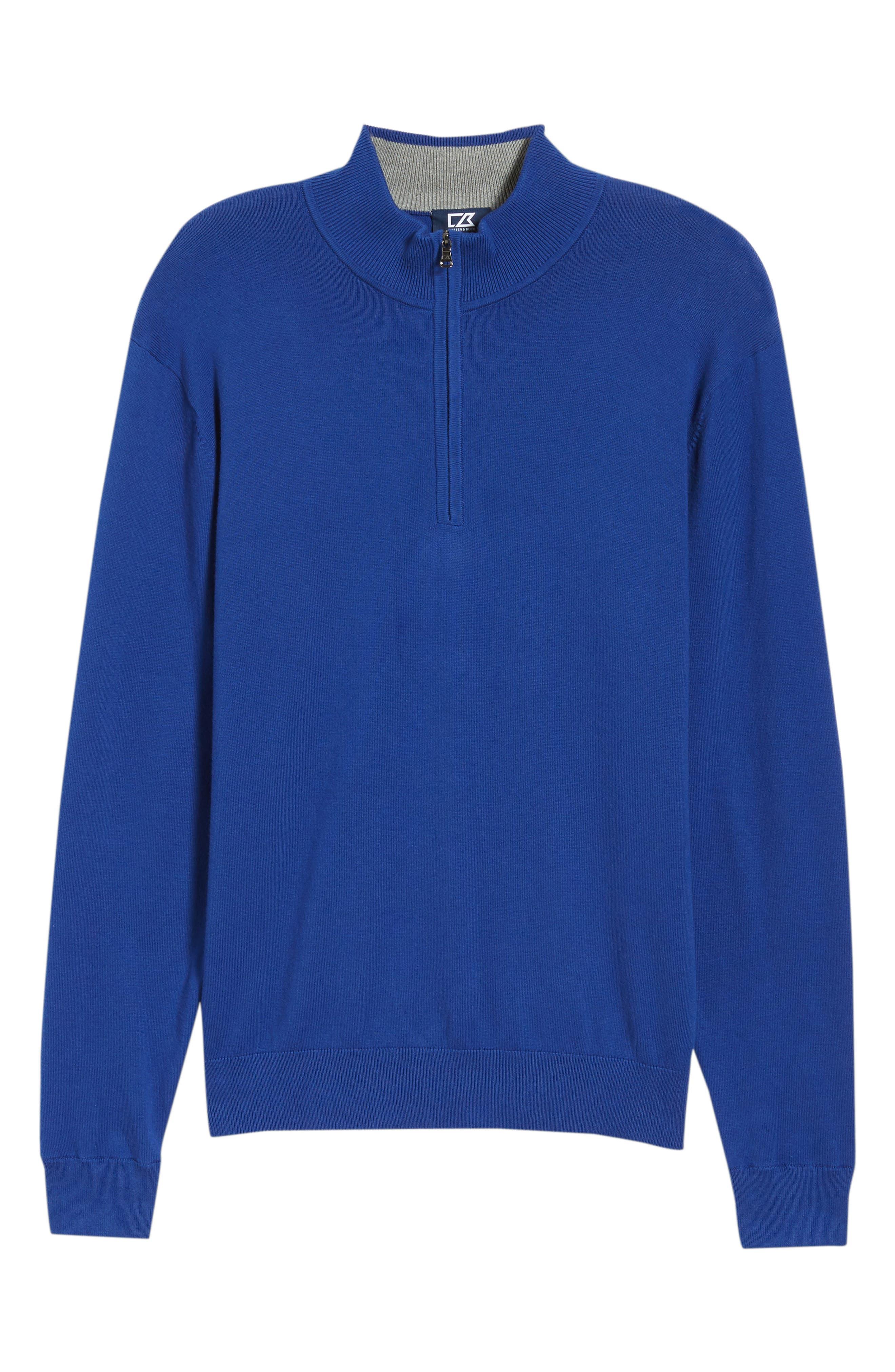 CUTTER & BUCK, Lakemont Half Zip Sweater, Alternate thumbnail 6, color, 419