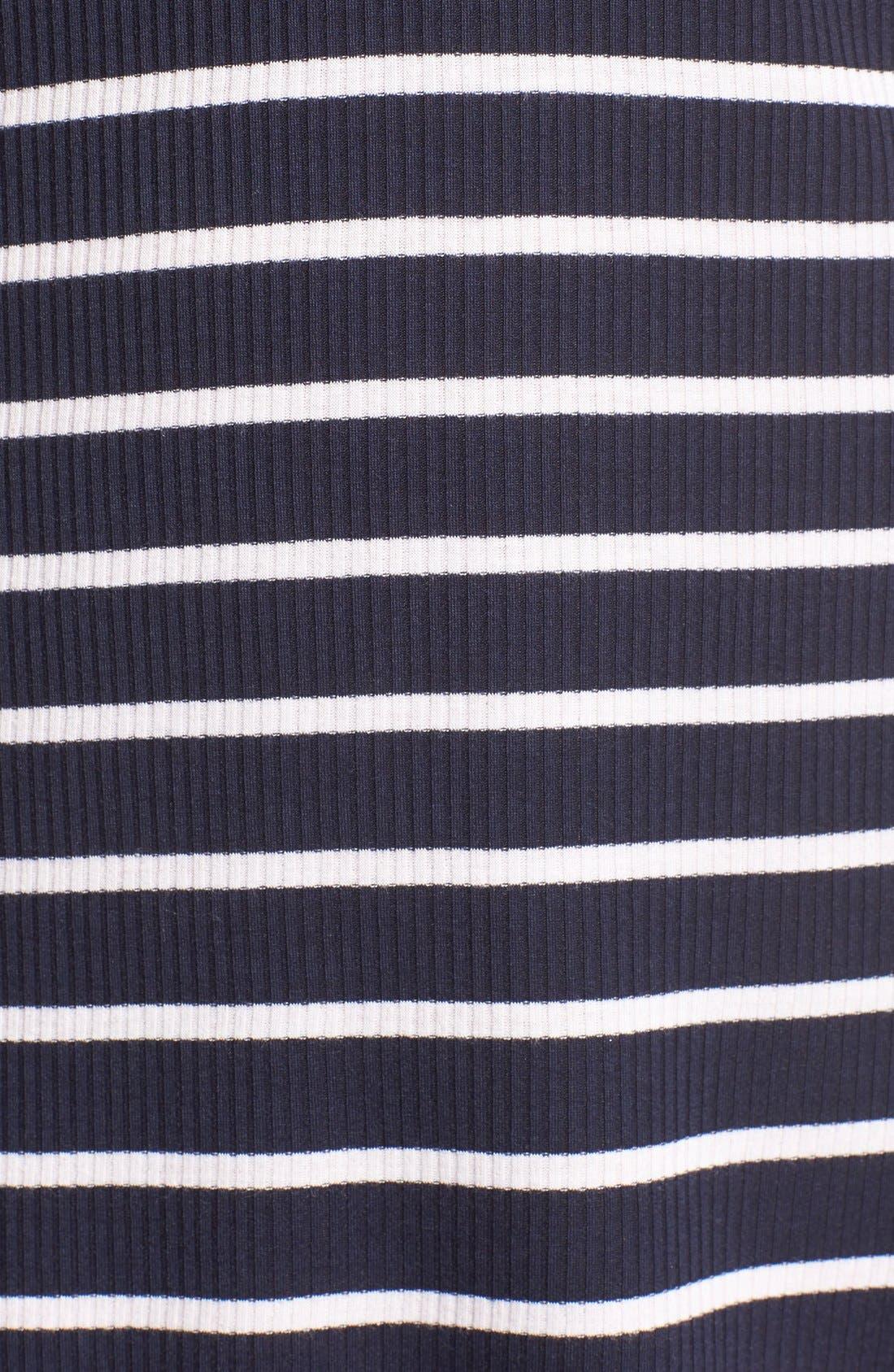 SOCIALITE, Stripe Lace-Up Minidress, Alternate thumbnail 5, color, 466