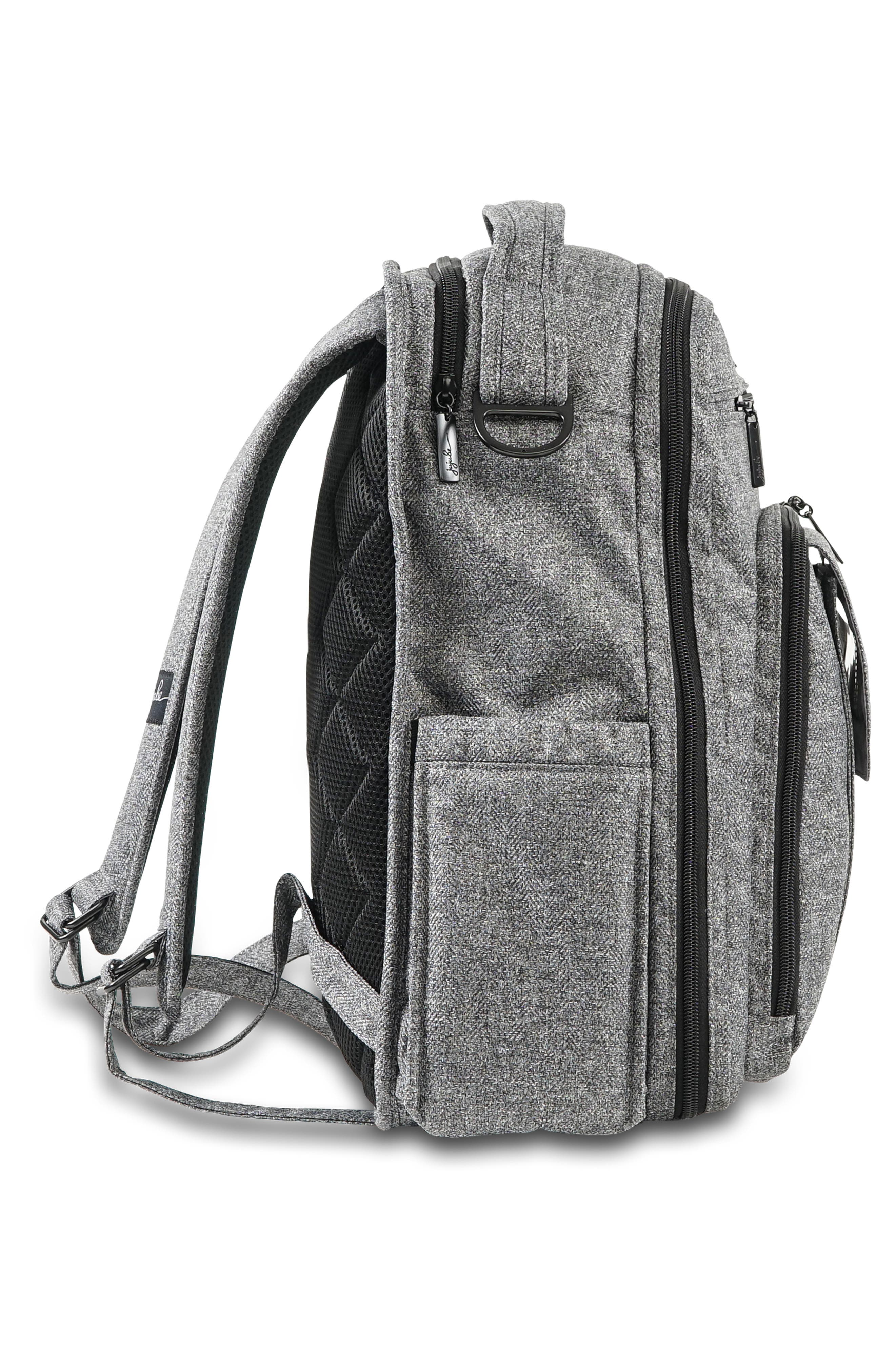 JU-JU-BE, 'Be Right Back - Onyx Collection' Diaper Backpack, Alternate thumbnail 4, color, GRAY MATTER