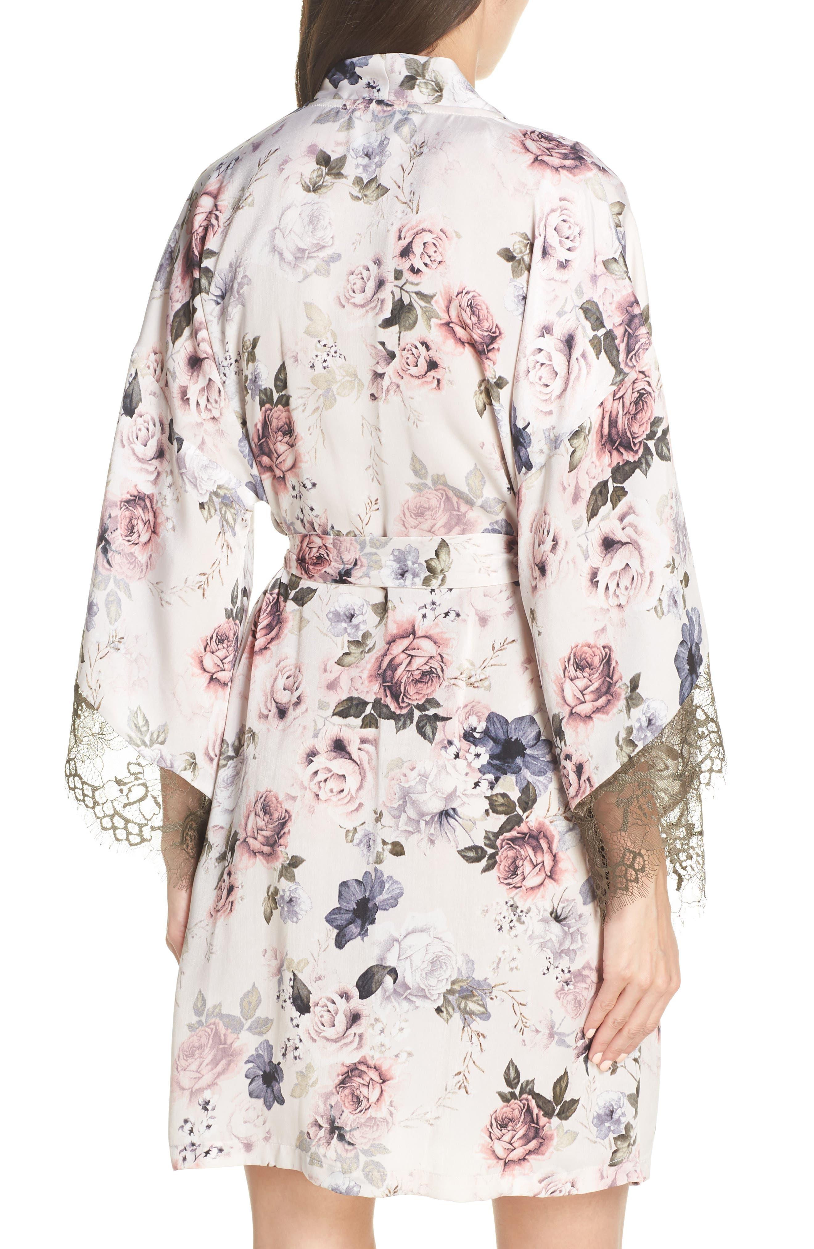 MIDNIGHT BAKERY, Satin Kimono Wrap, Alternate thumbnail 2, color, PRIMROSE PRINT