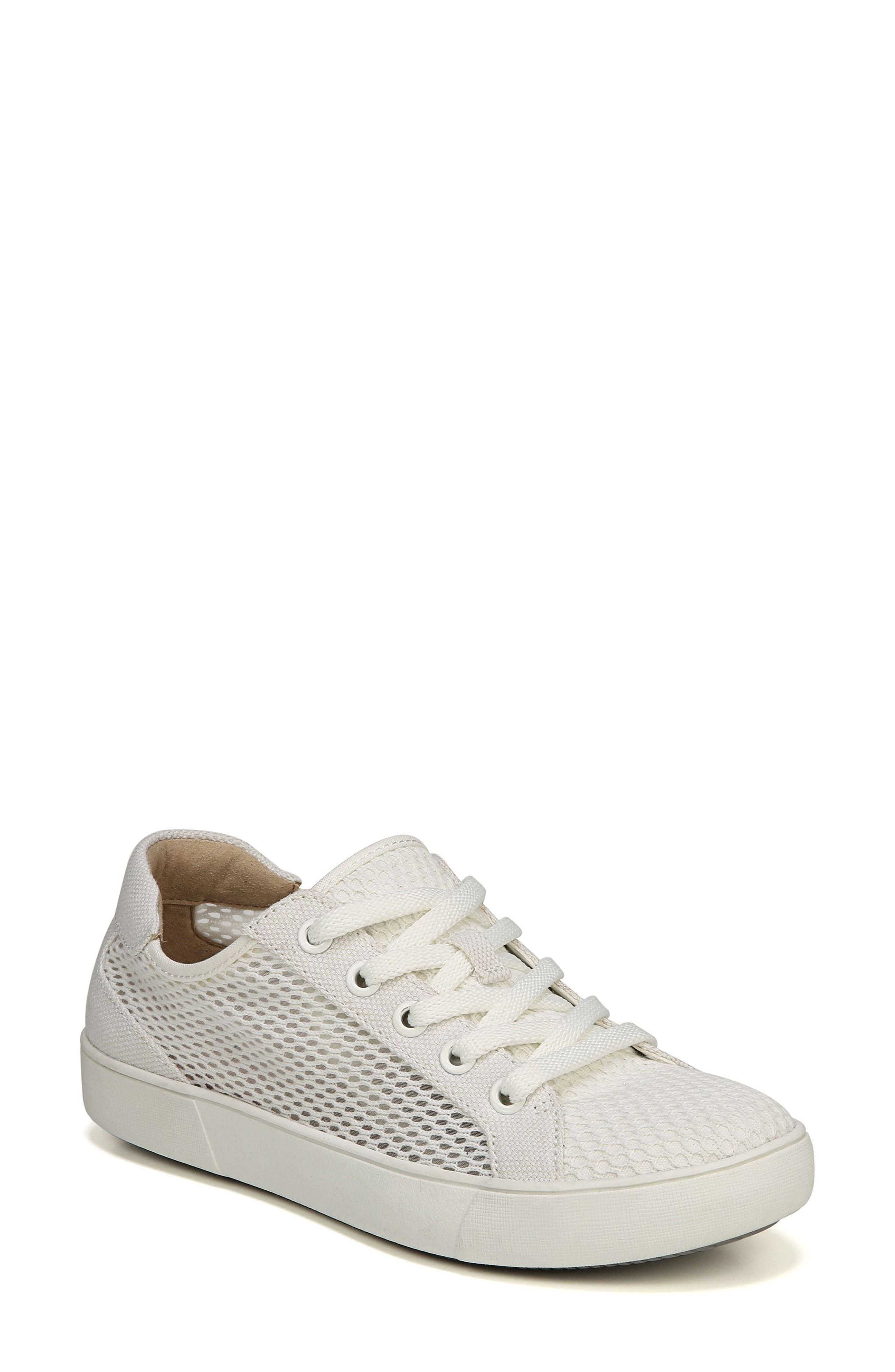 NATURALIZER, Morrison III Perforated Sneaker, Main thumbnail 1, color, WHITE FABRIC