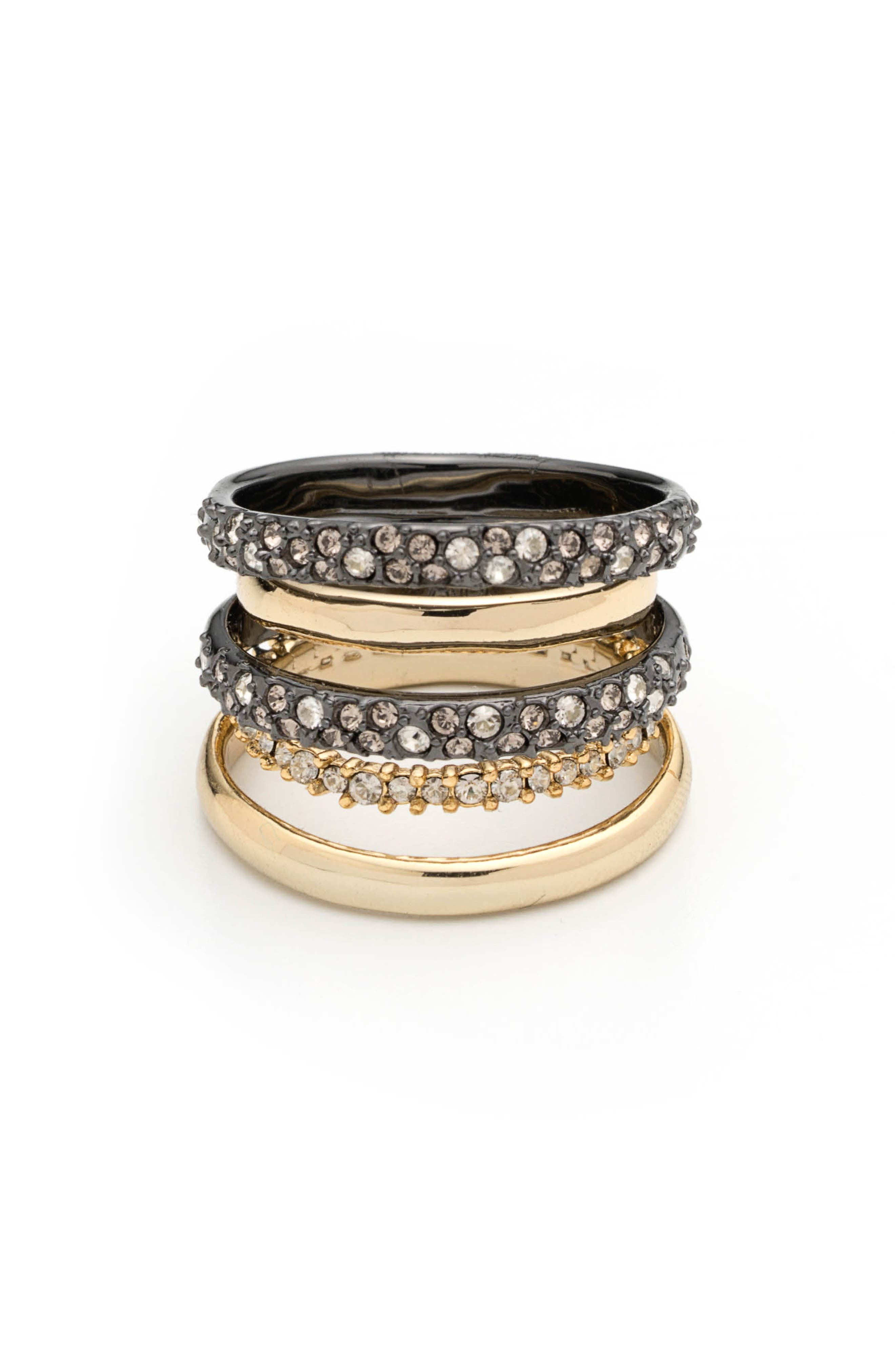 ALEXIS BITTAR, Pavé Stack Ring, Alternate thumbnail 2, color, 710