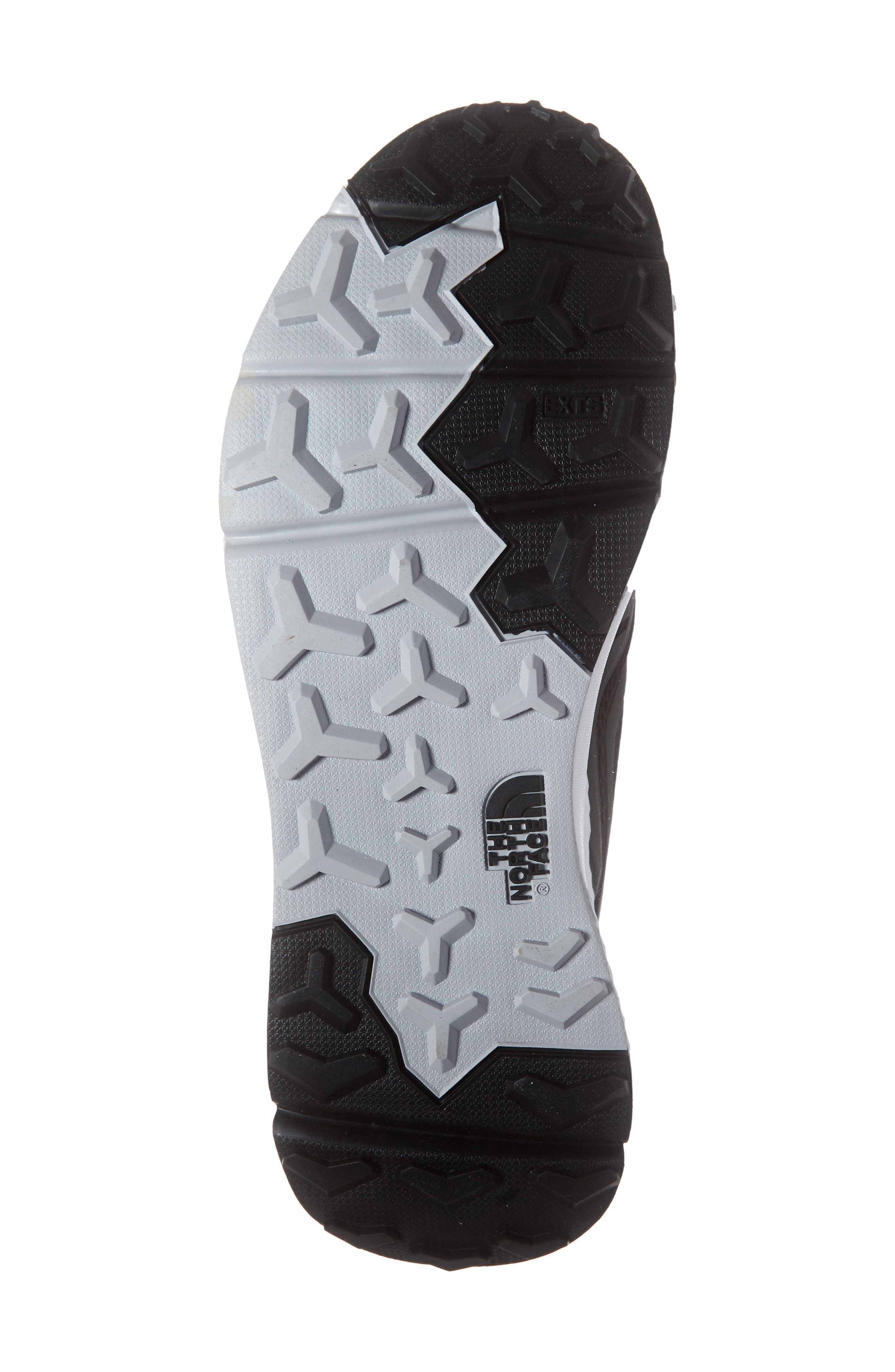THE NORTH FACE, Rovereto Running Shoe, Alternate thumbnail 6, color, BLACK/ WHITE