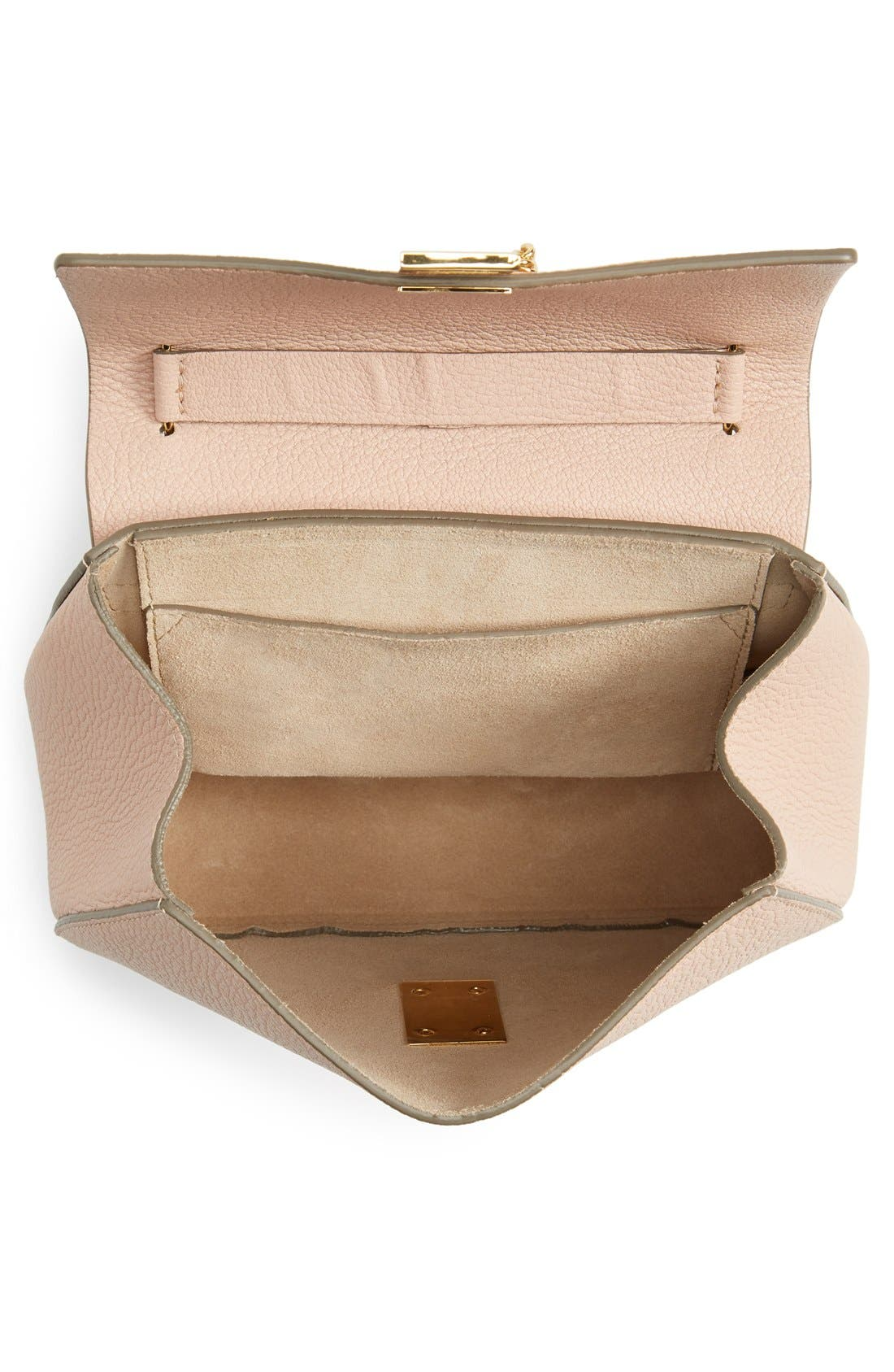 CHLOÉ, Drew Leather Shoulder Bag, Alternate thumbnail 5, color, 650