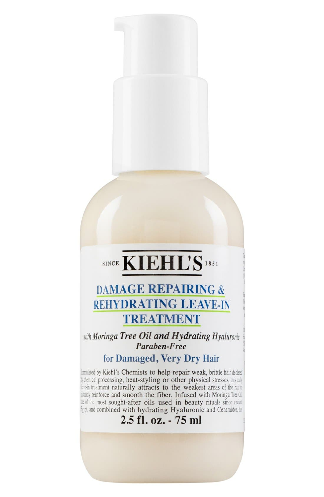 KIEHL'S SINCE 1851, Damage Repairing & Rehydrating Leave-In Treatment, Main thumbnail 1, color, NO COLOR