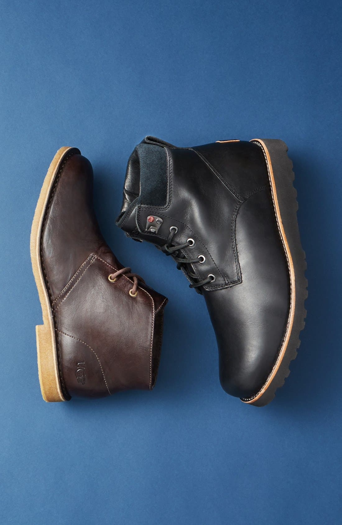 UGG<SUP>®</SUP>, Seton Waterproof Chukka Boot, Alternate thumbnail 5, color, STOUT