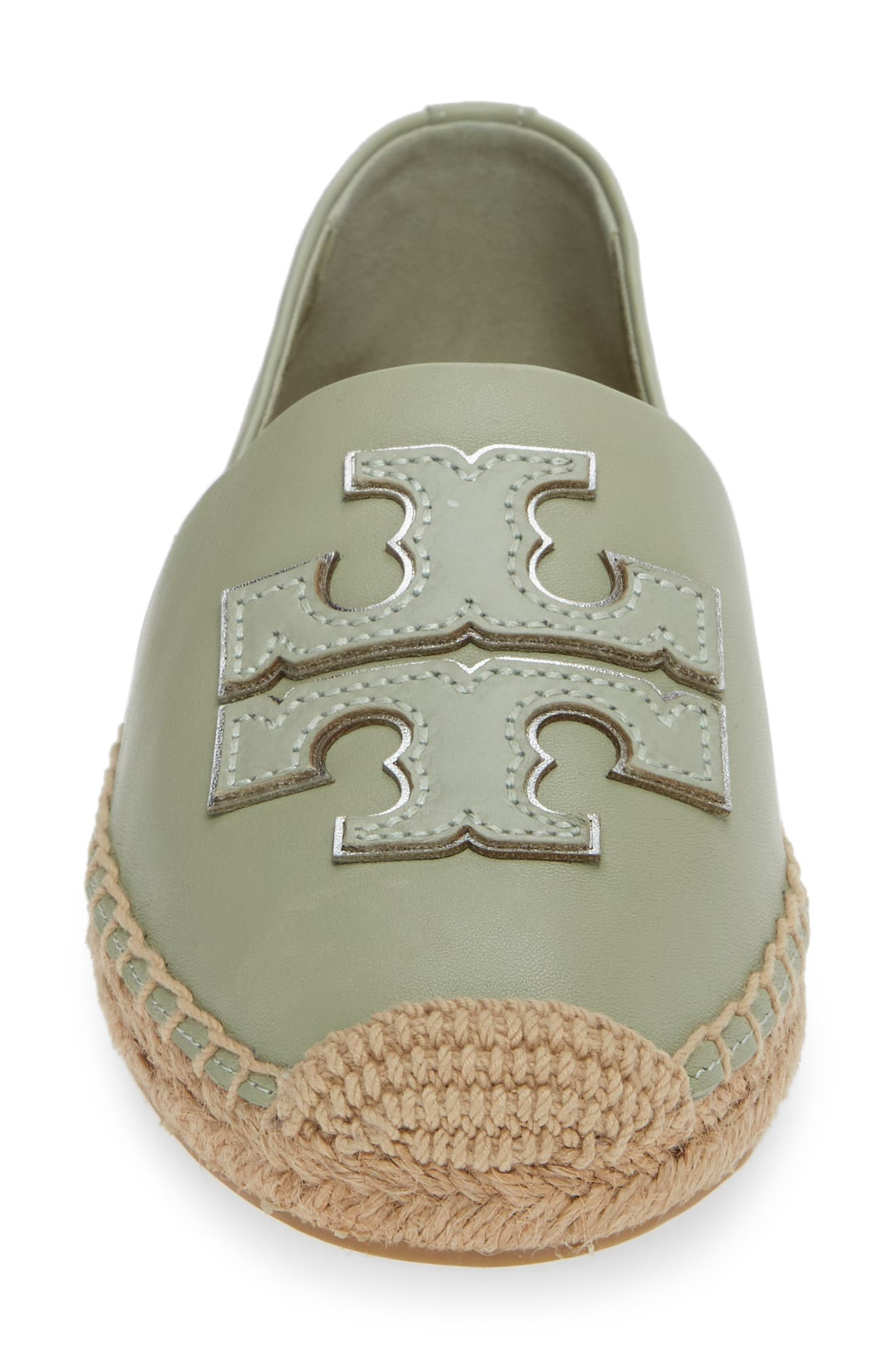 TORY BURCH, Ines Espadrille, Alternate thumbnail 4, color, GARDEN SAGE / SILVER