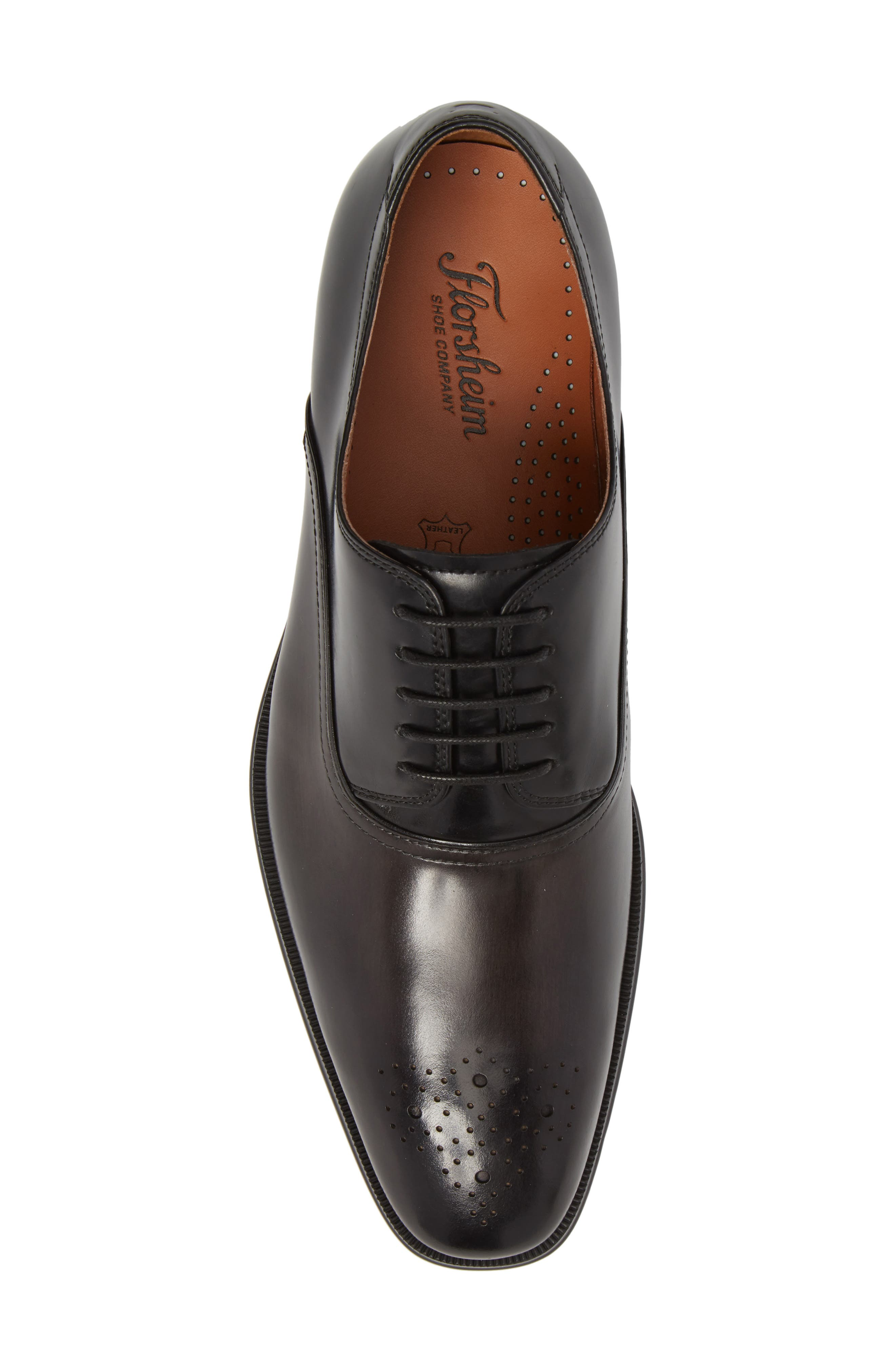 FLORSHEIM, Belfast Brogued Derby, Alternate thumbnail 5, color, GRAY/ BLACK LEATHER