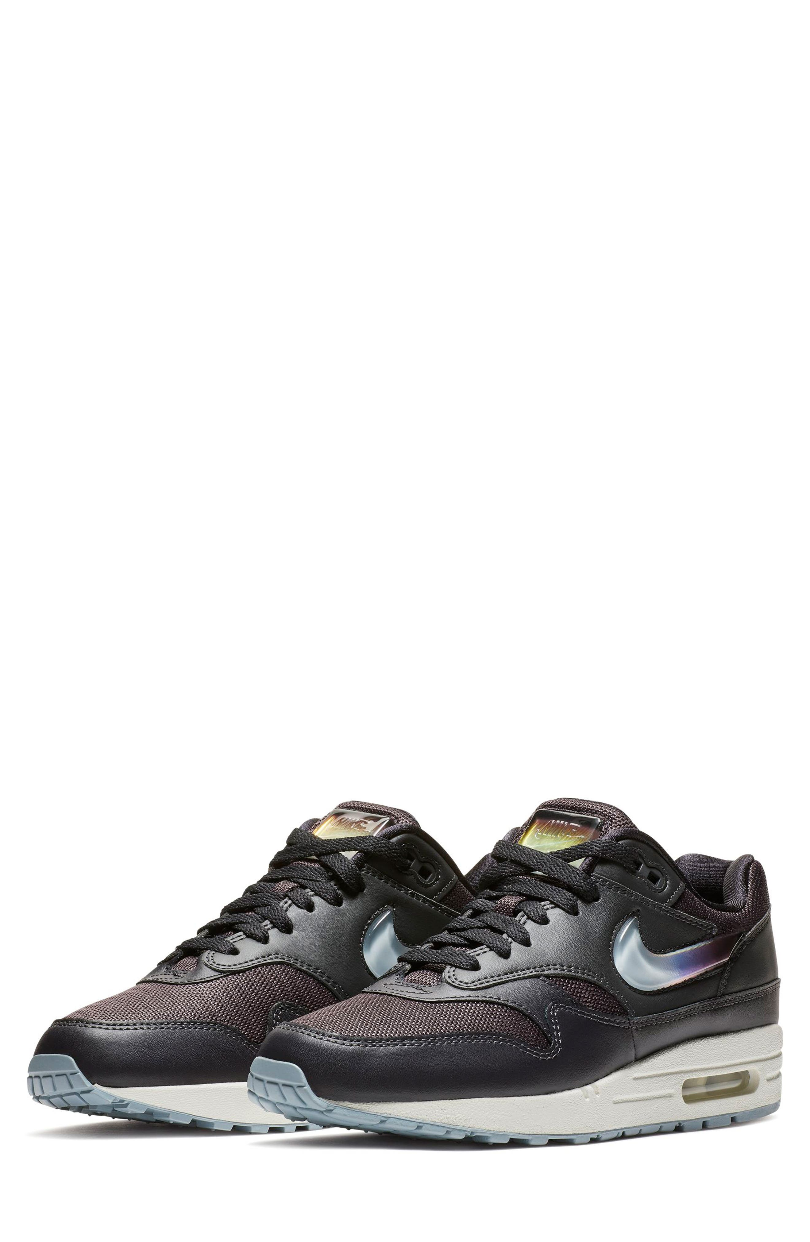NIKE, Air Max 1 JP Sneaker, Main thumbnail 1, color, OIL GREY/ OBSIDIAN/ WHITE