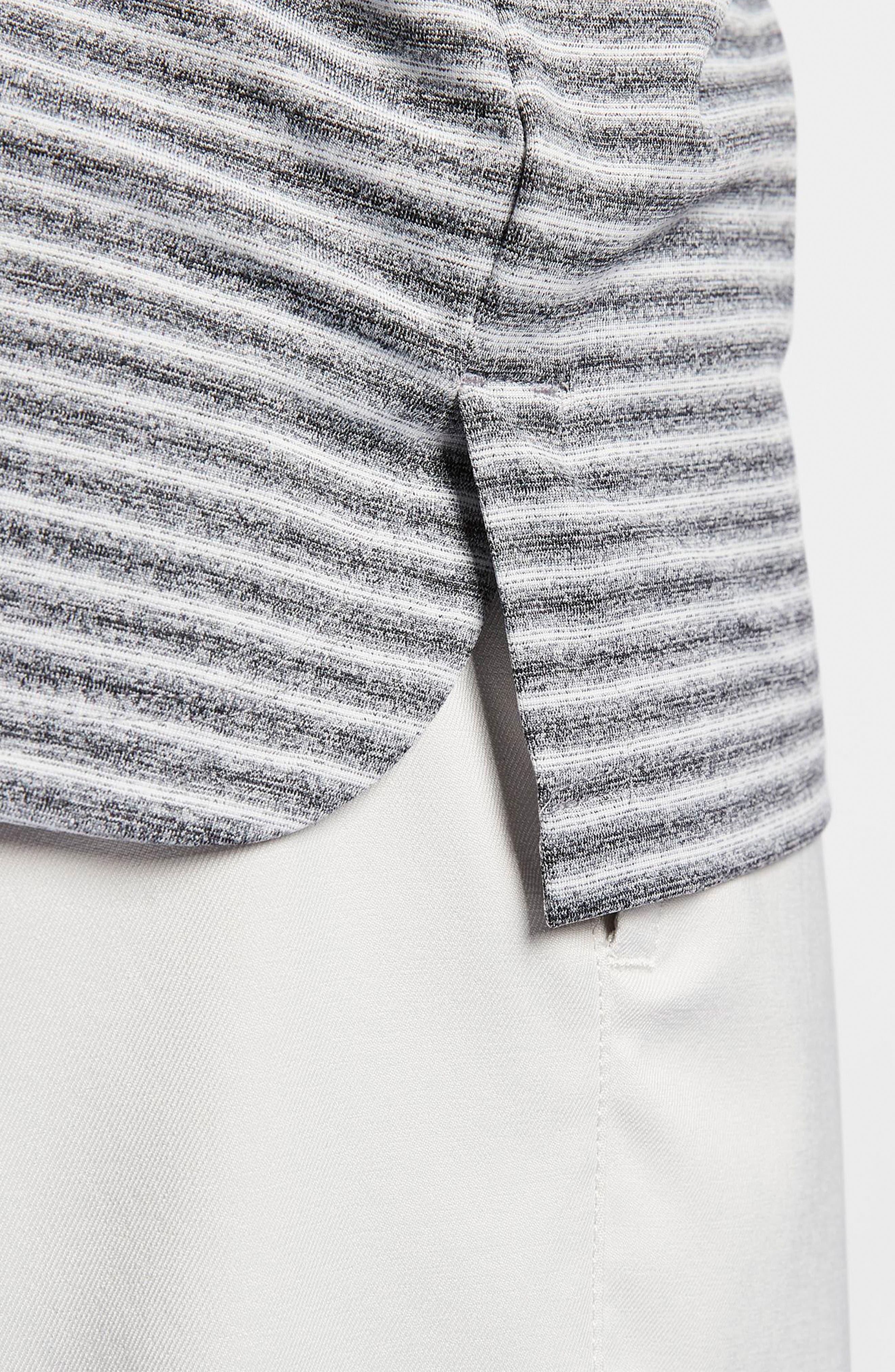 NIKE, TW Stripe Dri-FIT Polo, Alternate thumbnail 4, color, BLACK