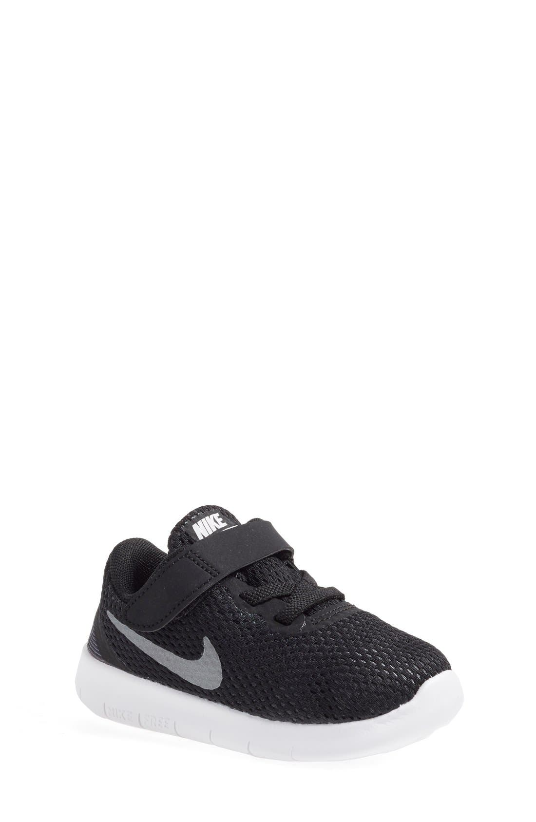 NIKE, Free RN Sneaker, Main thumbnail 1, color, 001