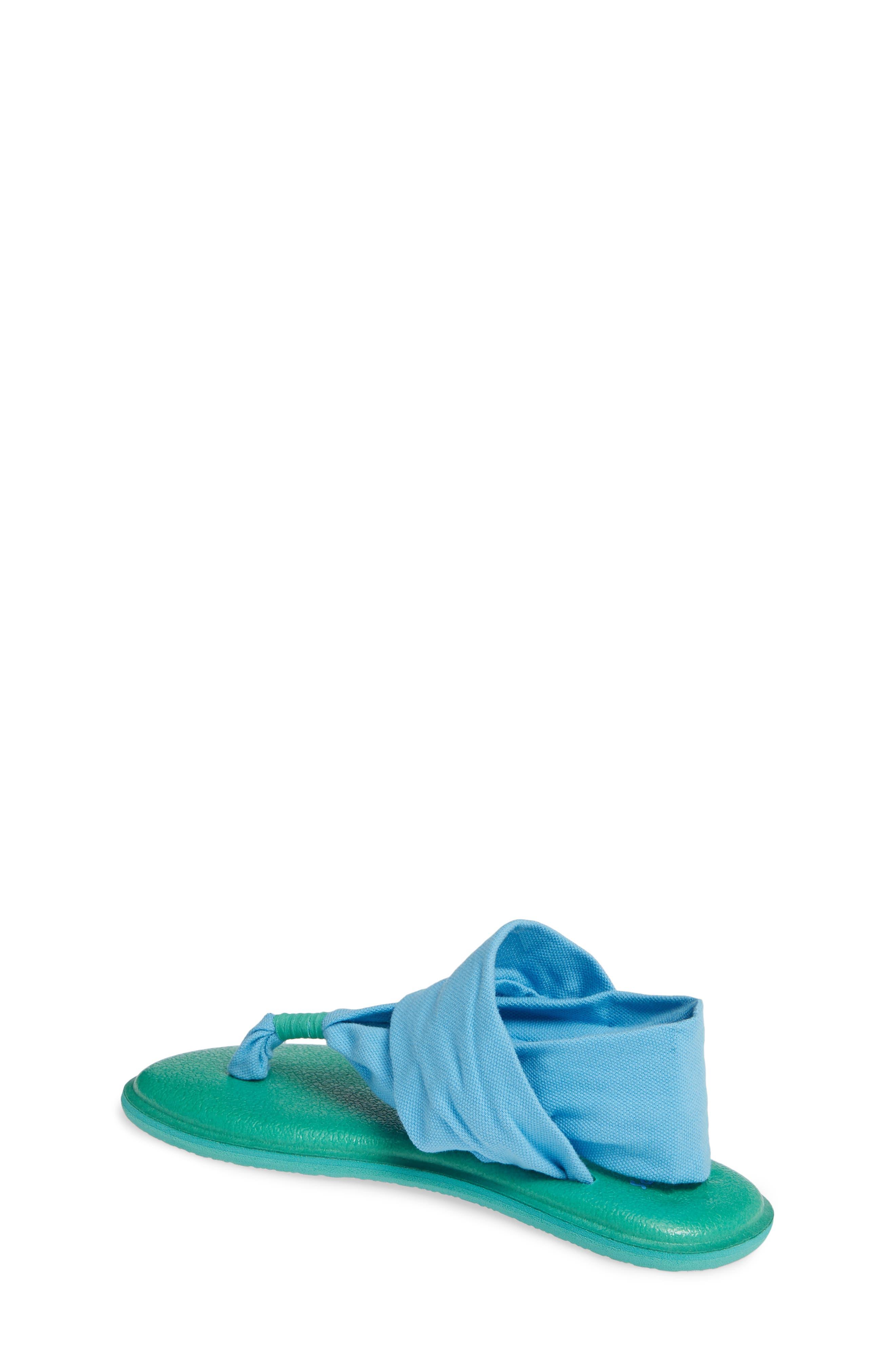 SANUK, Lil Yoga Sling 2 Sandal, Alternate thumbnail 2, color, ALASKA BLUE