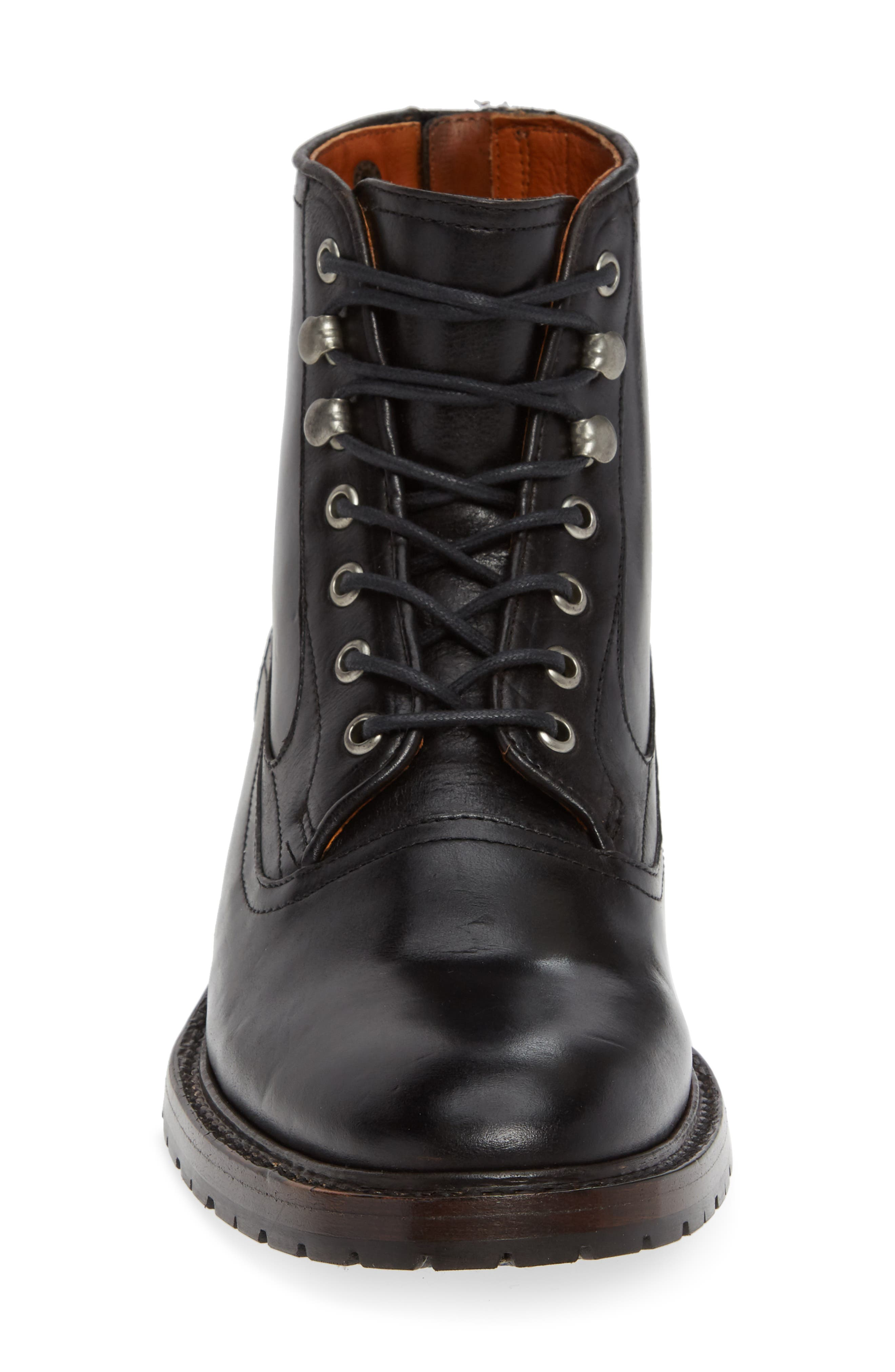 TWO24, by Ariat Fairfax Plain Toe Boot, Alternate thumbnail 4, color, BLACK LEATHER