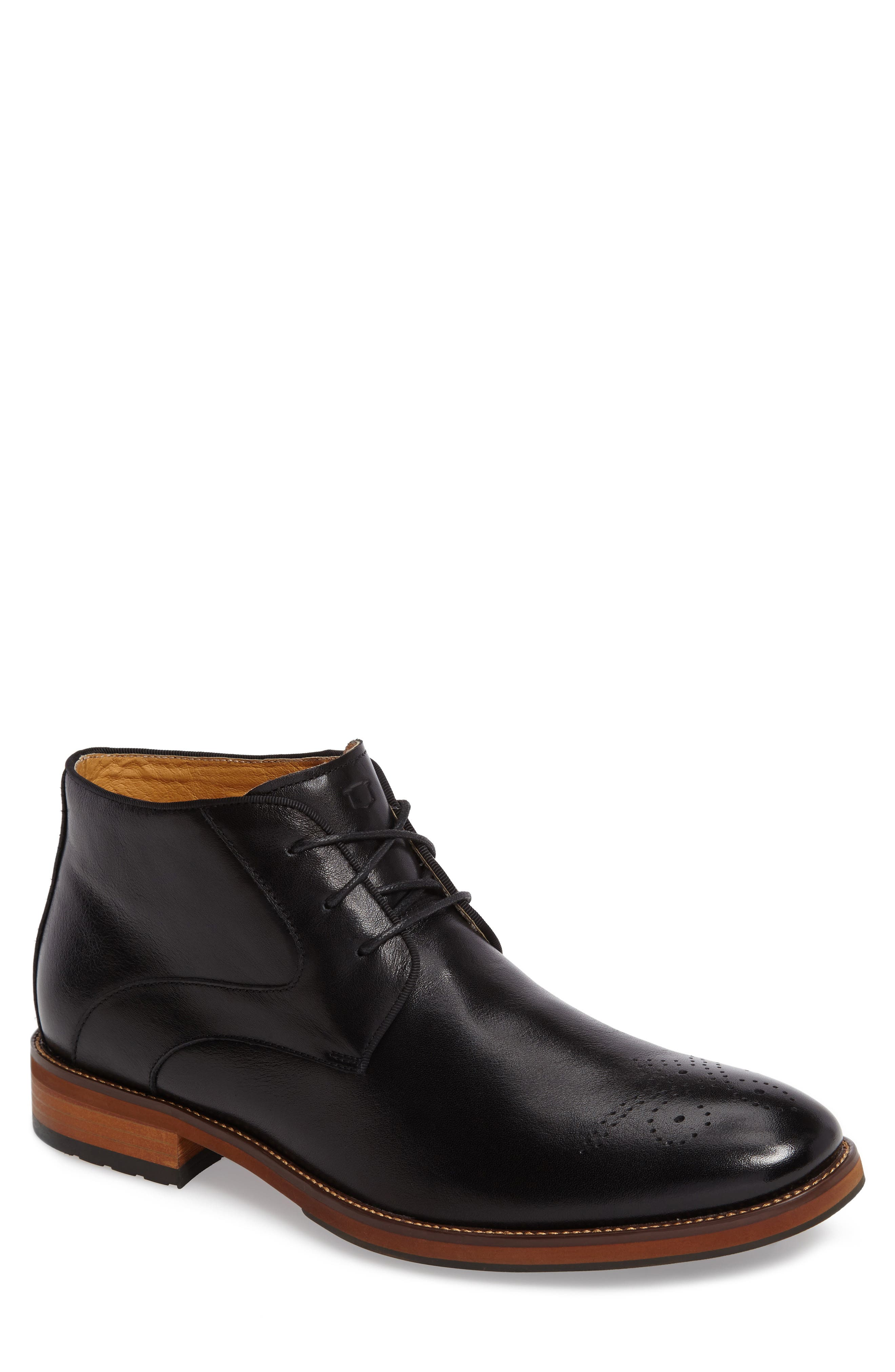 FLORSHEIM Blaze Chukka Boot, Main, color, BLACK LEATHER