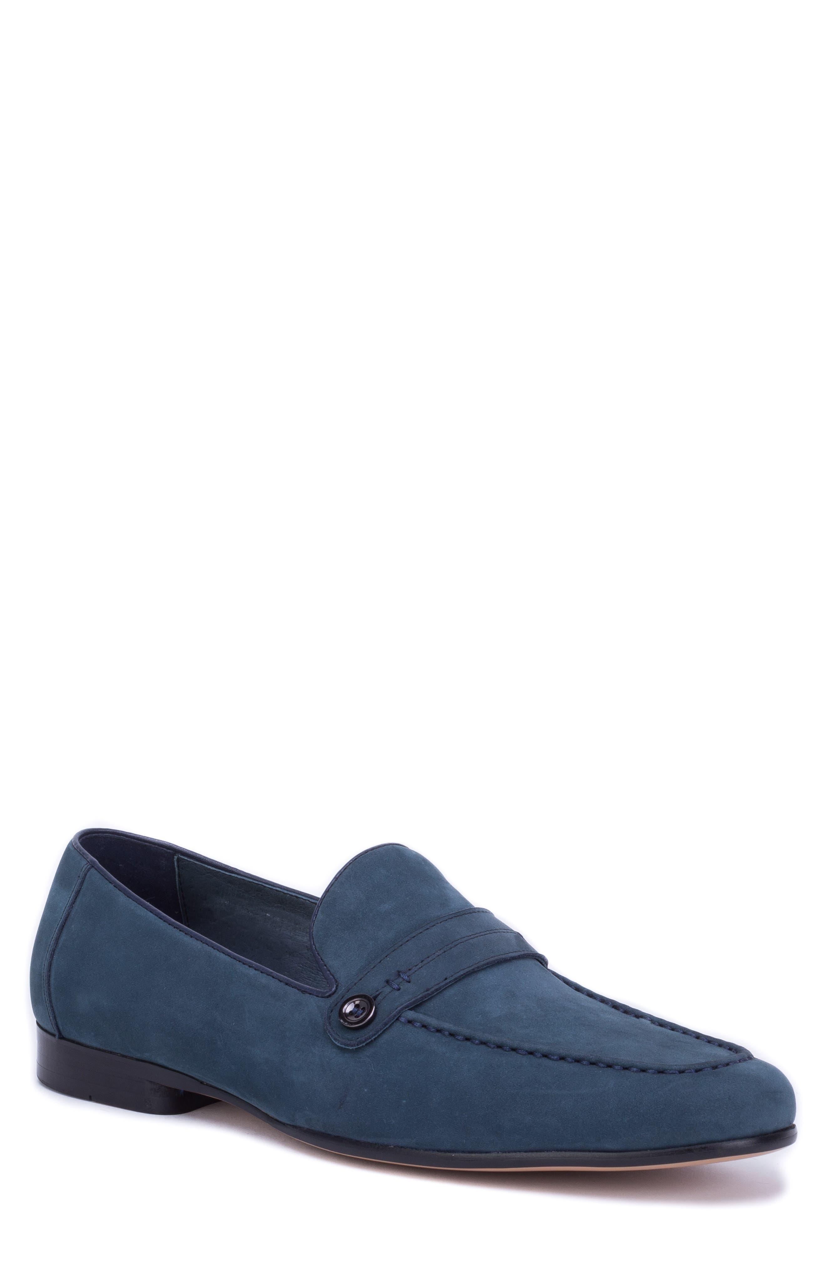 Robert Graham Norris Button Loafer- Blue