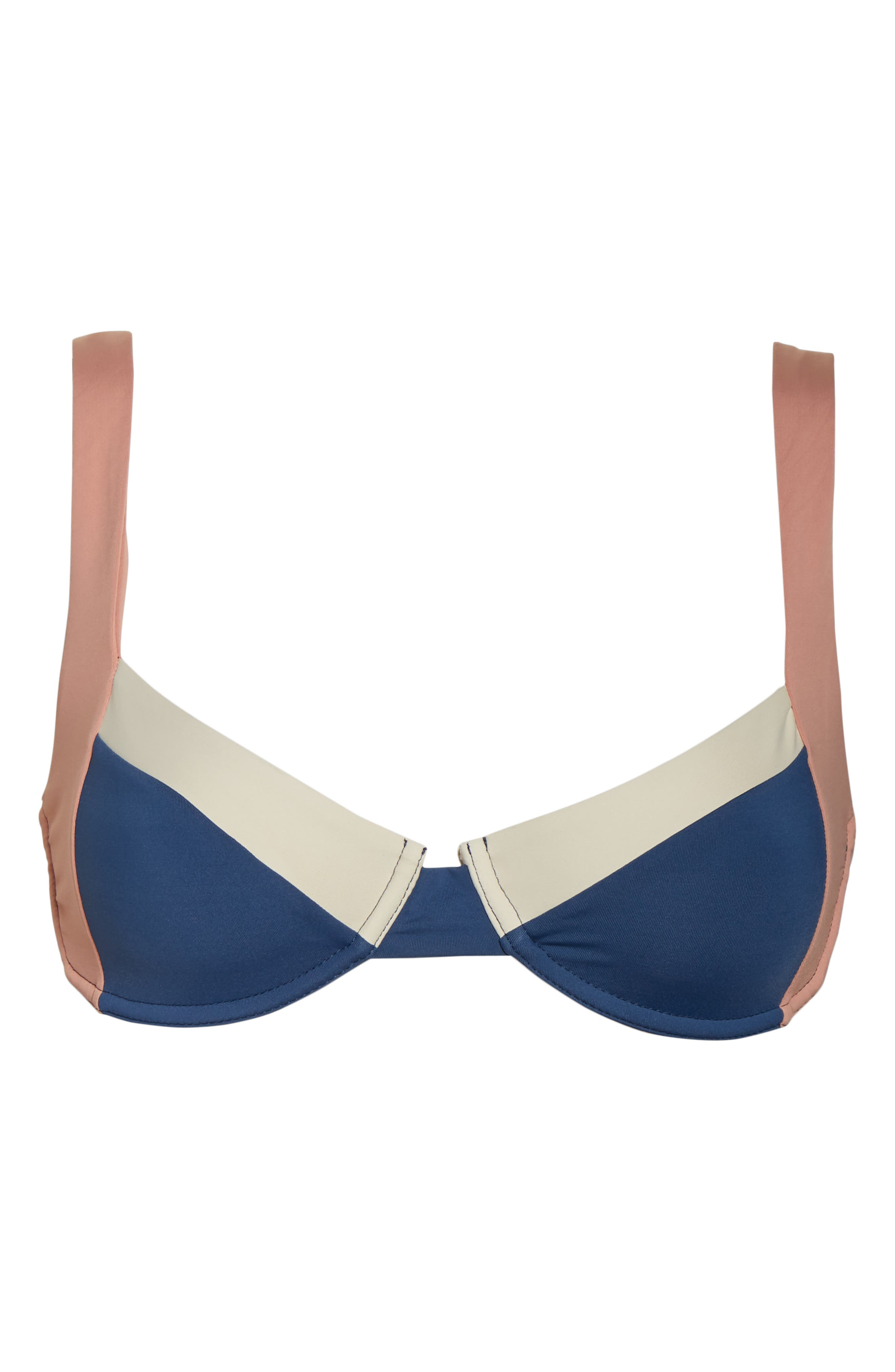 TAVIK, Sawyer Underwire Bikini Top, Alternate thumbnail 6, color, COASTAL BLUE/ DESERT ROSE