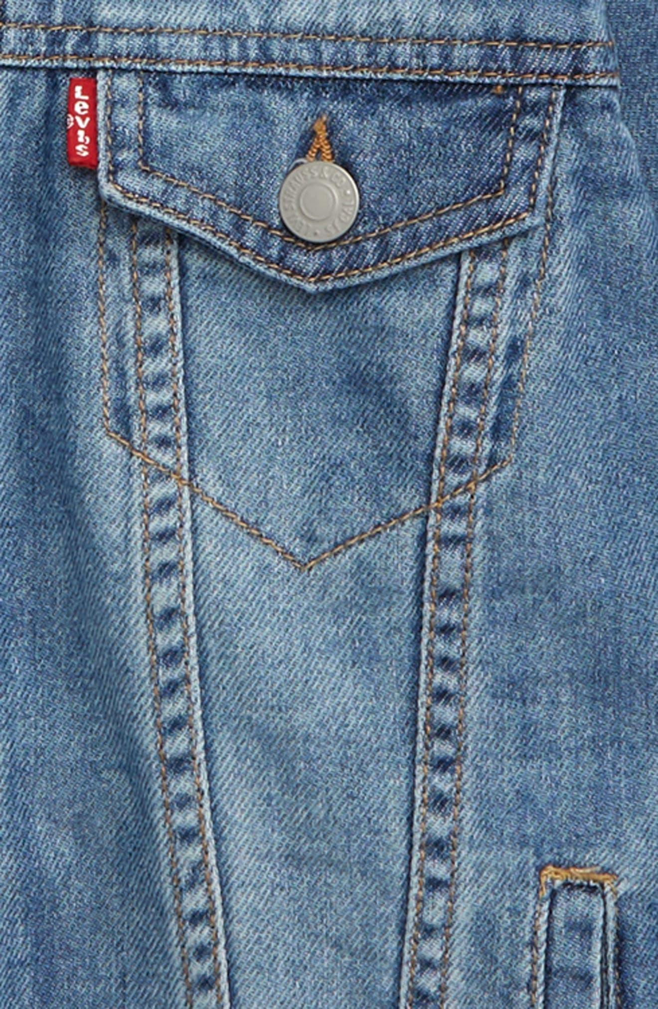 Boys LeviS Lightweight Denim Jacket Size XL (16)  Blue