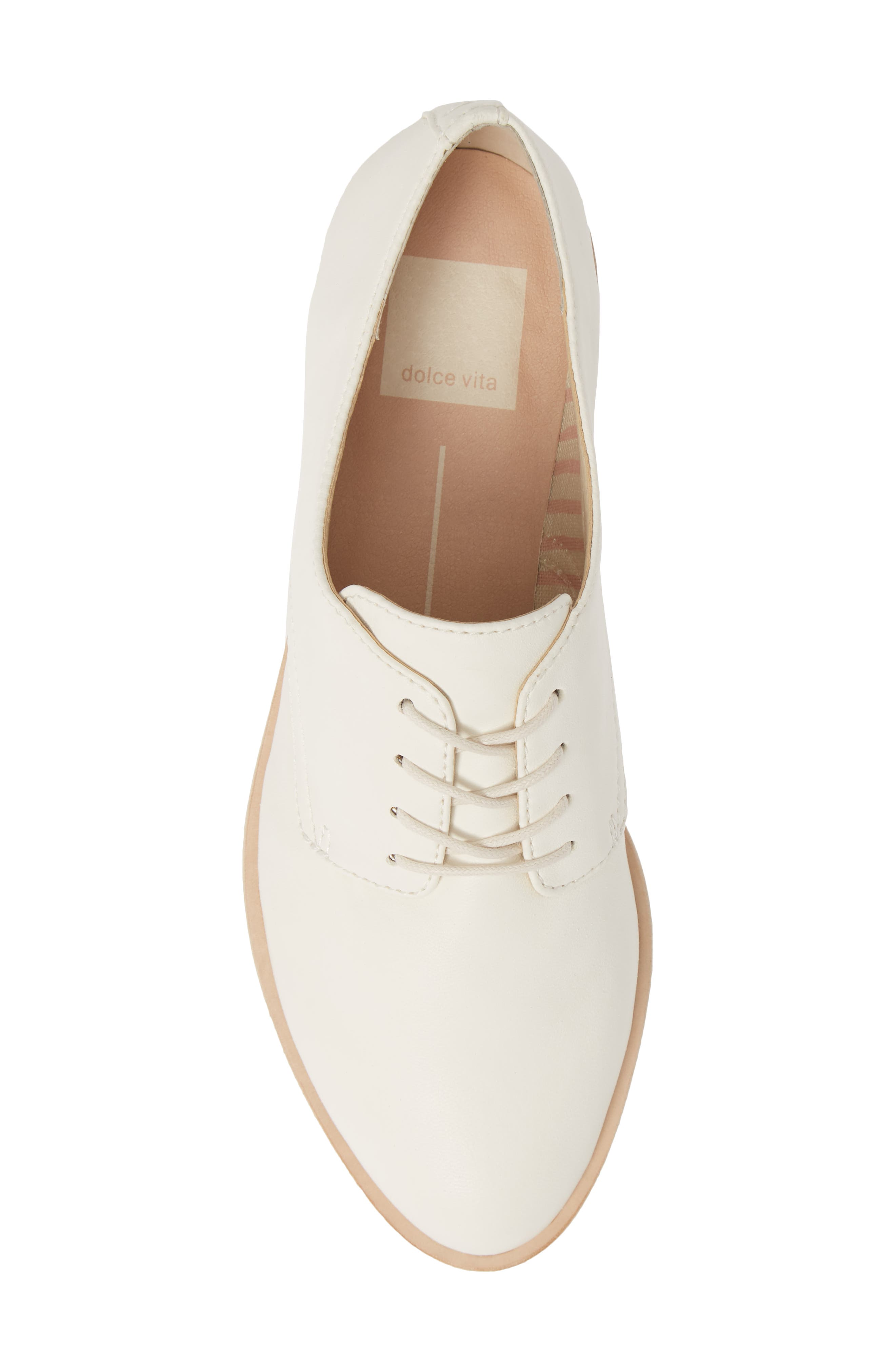 DOLCE VITA, Kyle Derby, Alternate thumbnail 5, color, OFF WHITE LEATHER