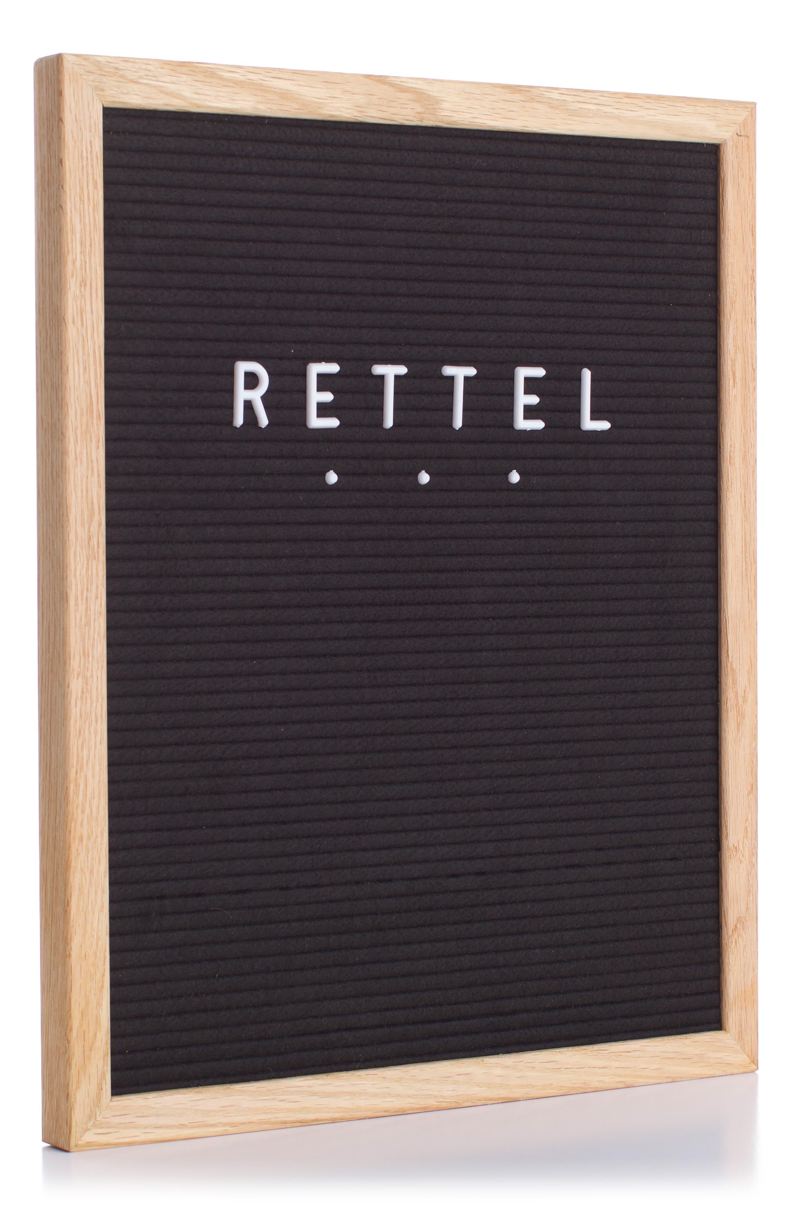 RETTEL, The Chit Chat Letterboard, Alternate thumbnail 6, color, BLACK
