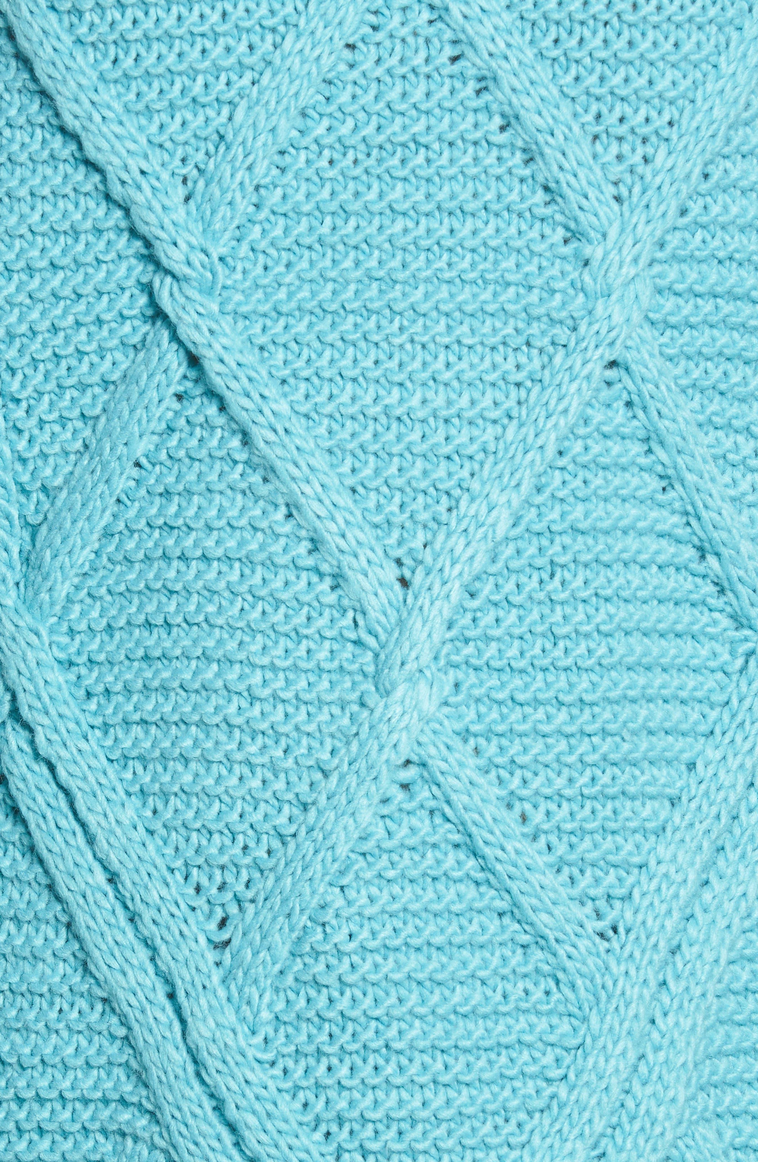 PROSPERITY DENIM, Cable Knit Sweater, Alternate thumbnail 5, color, 400