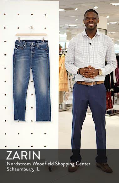 High Waist Fray Crop Bootcut Jeans, sales video thumbnail