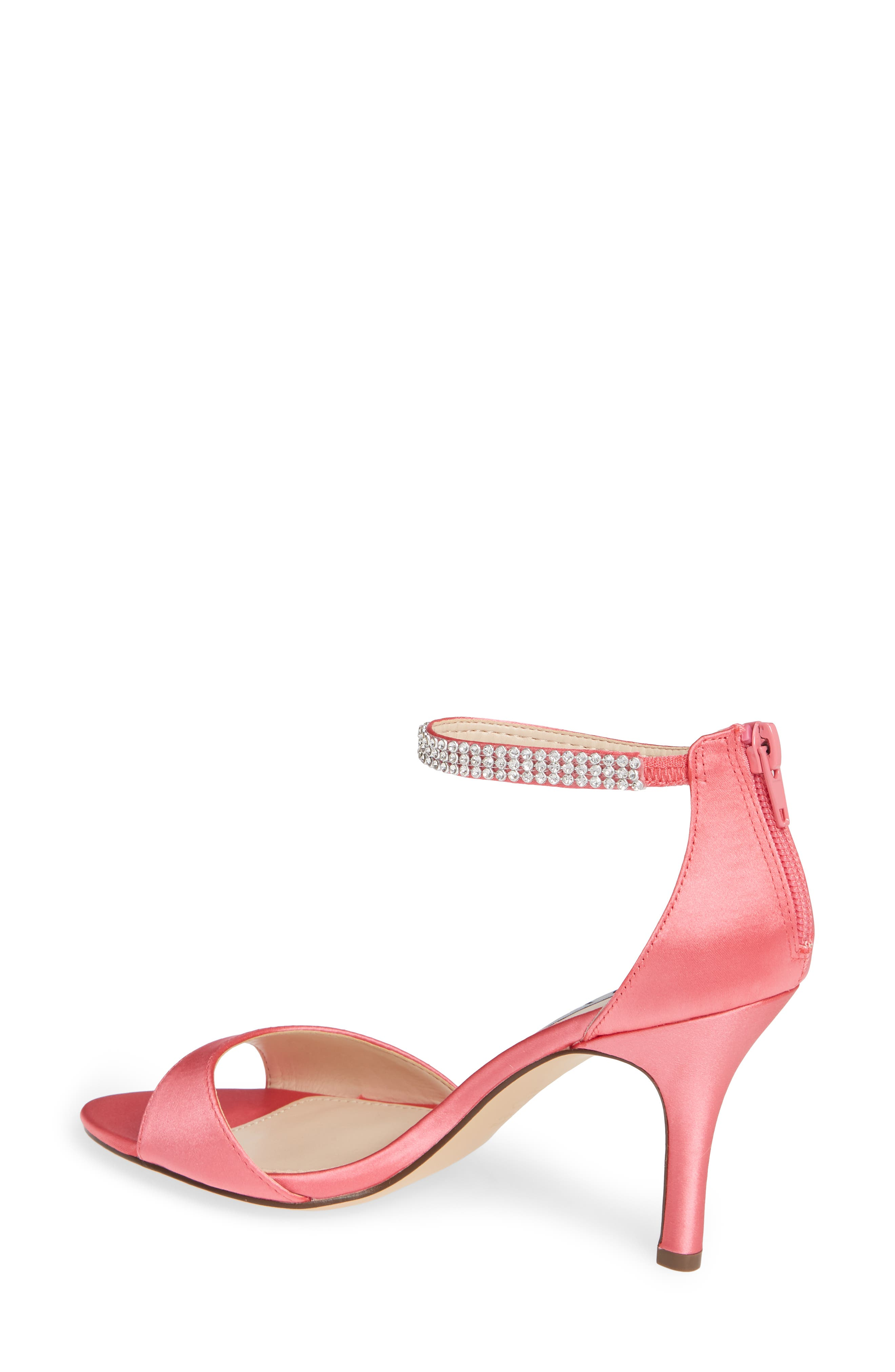 NINA, Volanda Ankle Strap Sandal, Alternate thumbnail 2, color, STRAWBERRY PUNCH SATIN
