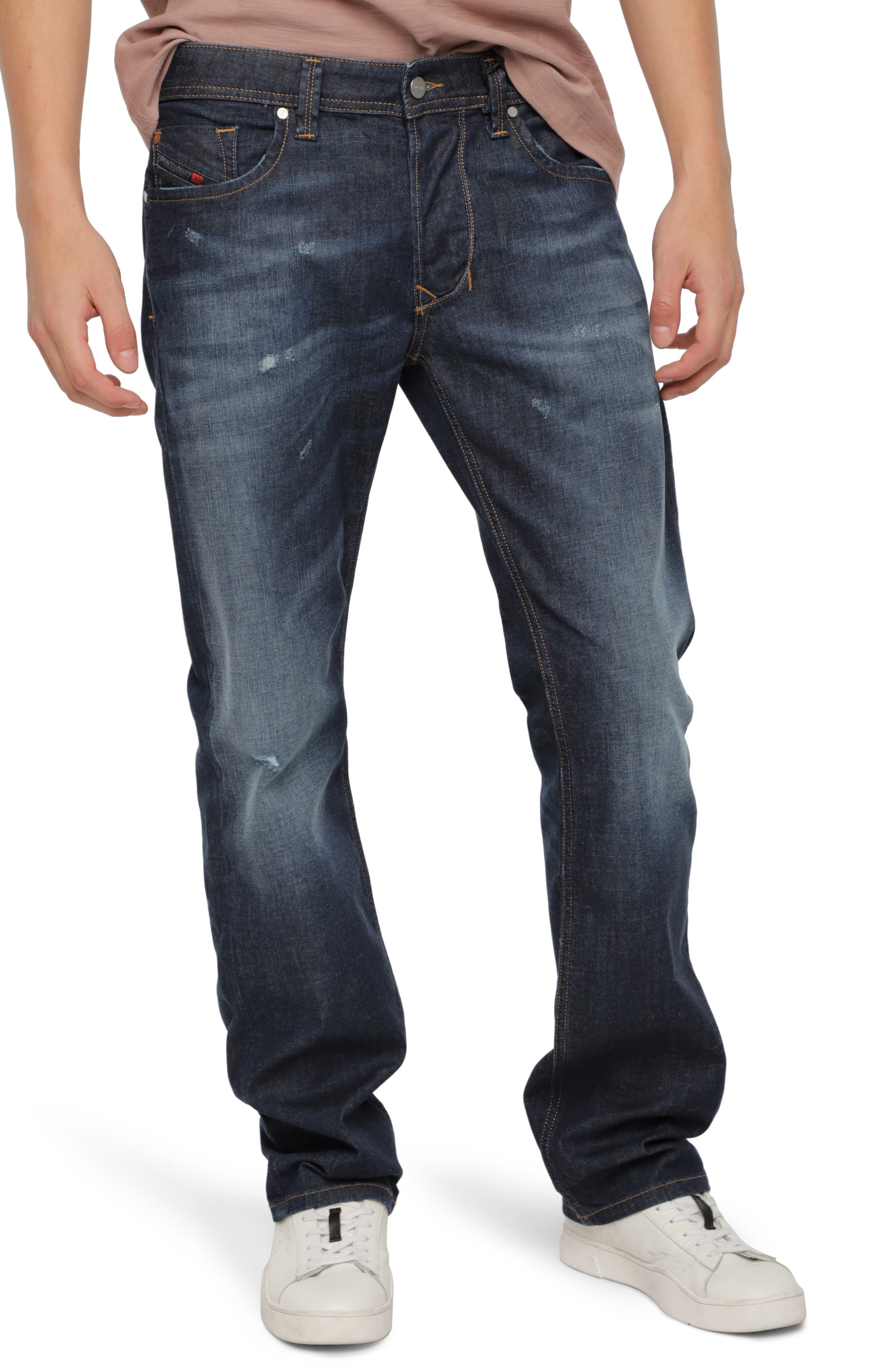 DIESEL<SUP>®</SUP>, Larkee Relaxed Fit Jeans, Main thumbnail 1, color, 400