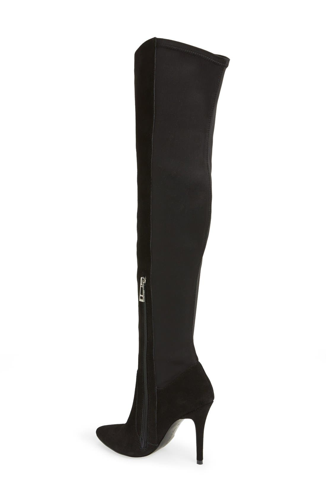 CHARLES BY CHARLES DAVID, 'Paso' Over The Knee Boot, Alternate thumbnail 4, color, 002