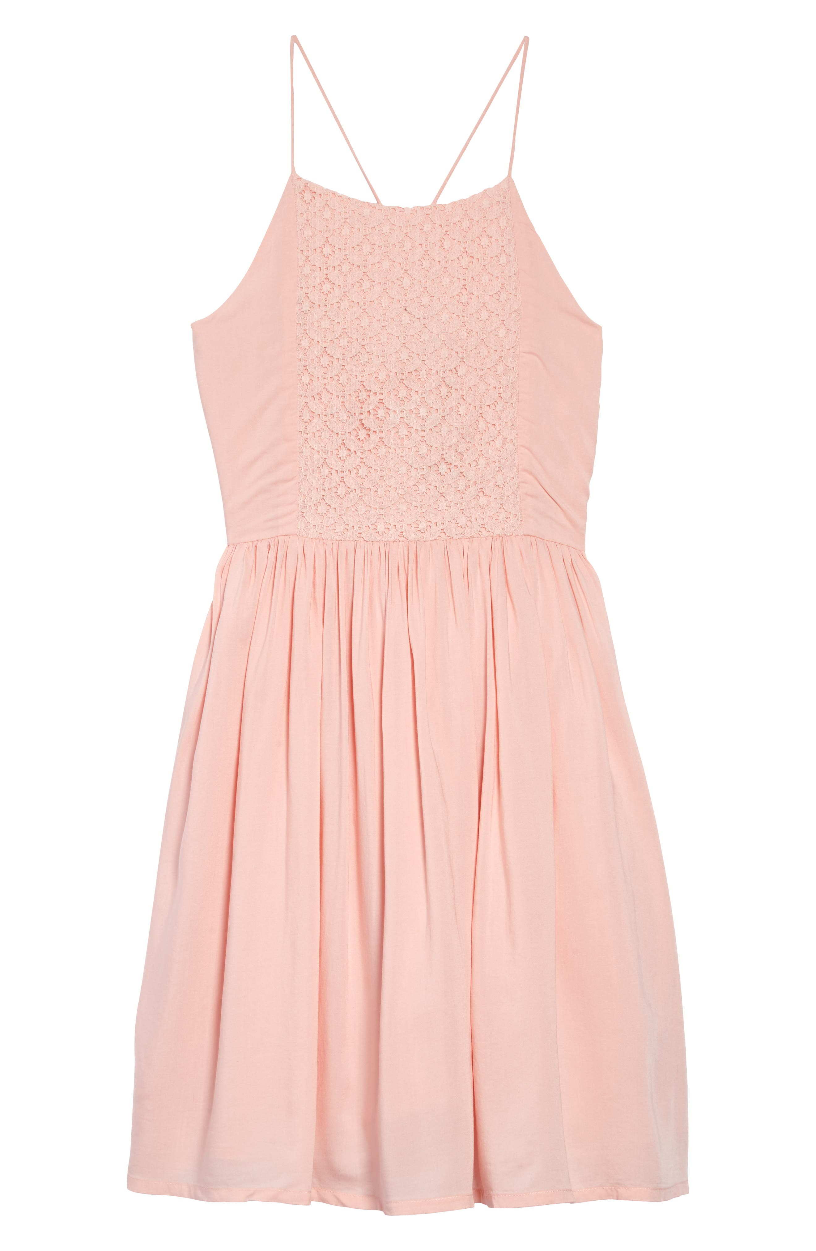 TUCKER + TATE Dreamin' Lace Inset Sundress, Main, color, PINK