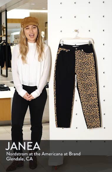 Leopard Panel Mom Jeans, sales video thumbnail