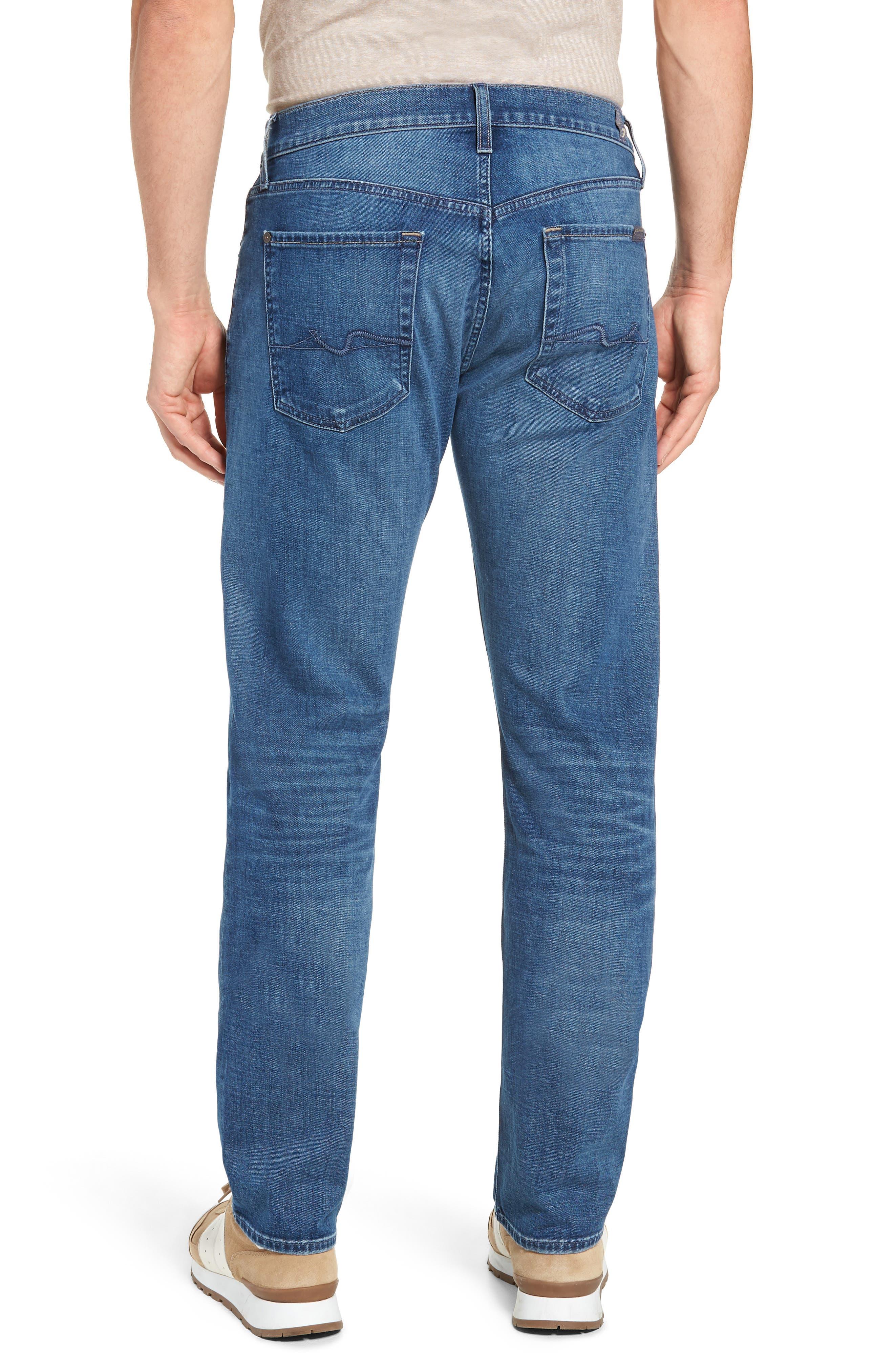 7 FOR ALL MANKIND<SUP>®</SUP>, Straight Slim Straight Leg Jeans, Alternate thumbnail 2, color, LYNNWOOD-LYNN
