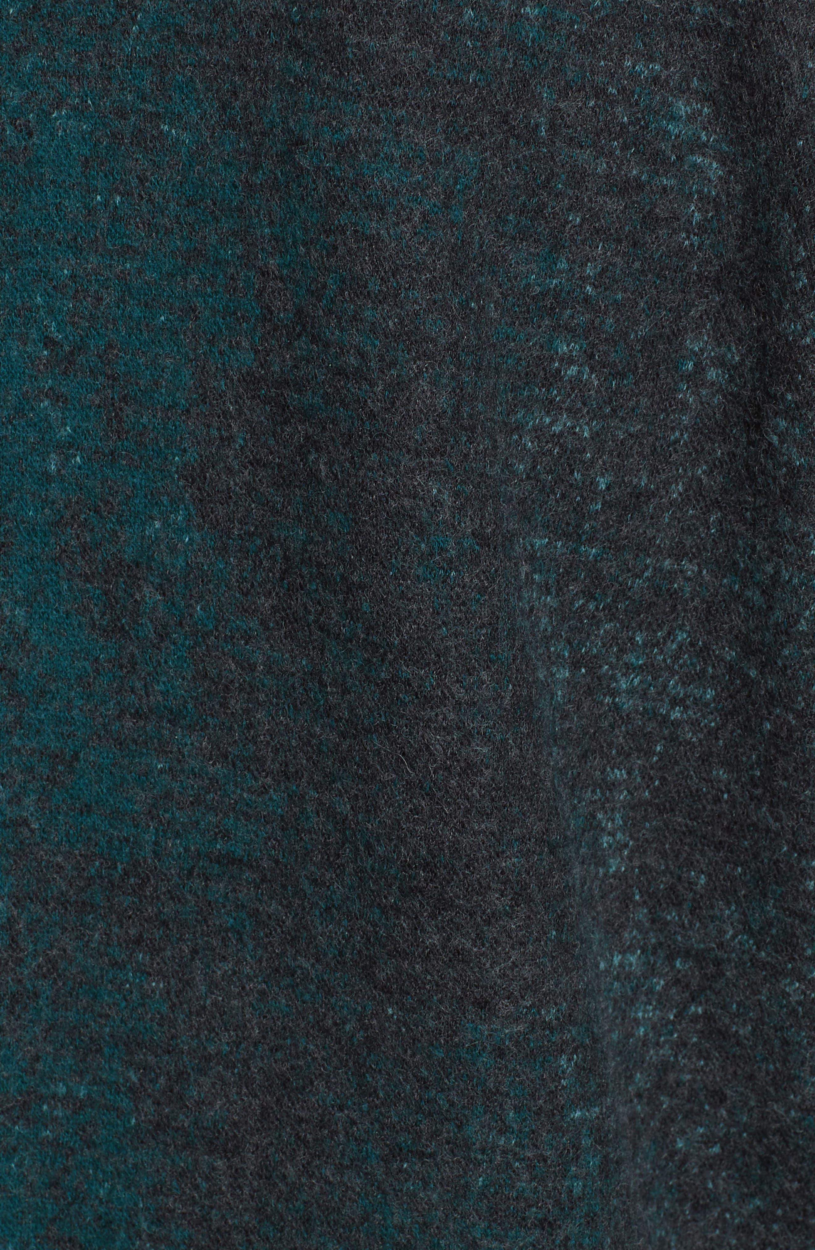 EILEEN FISHER, Wool Blend Kimono Coat, Alternate thumbnail 7, color, PINE