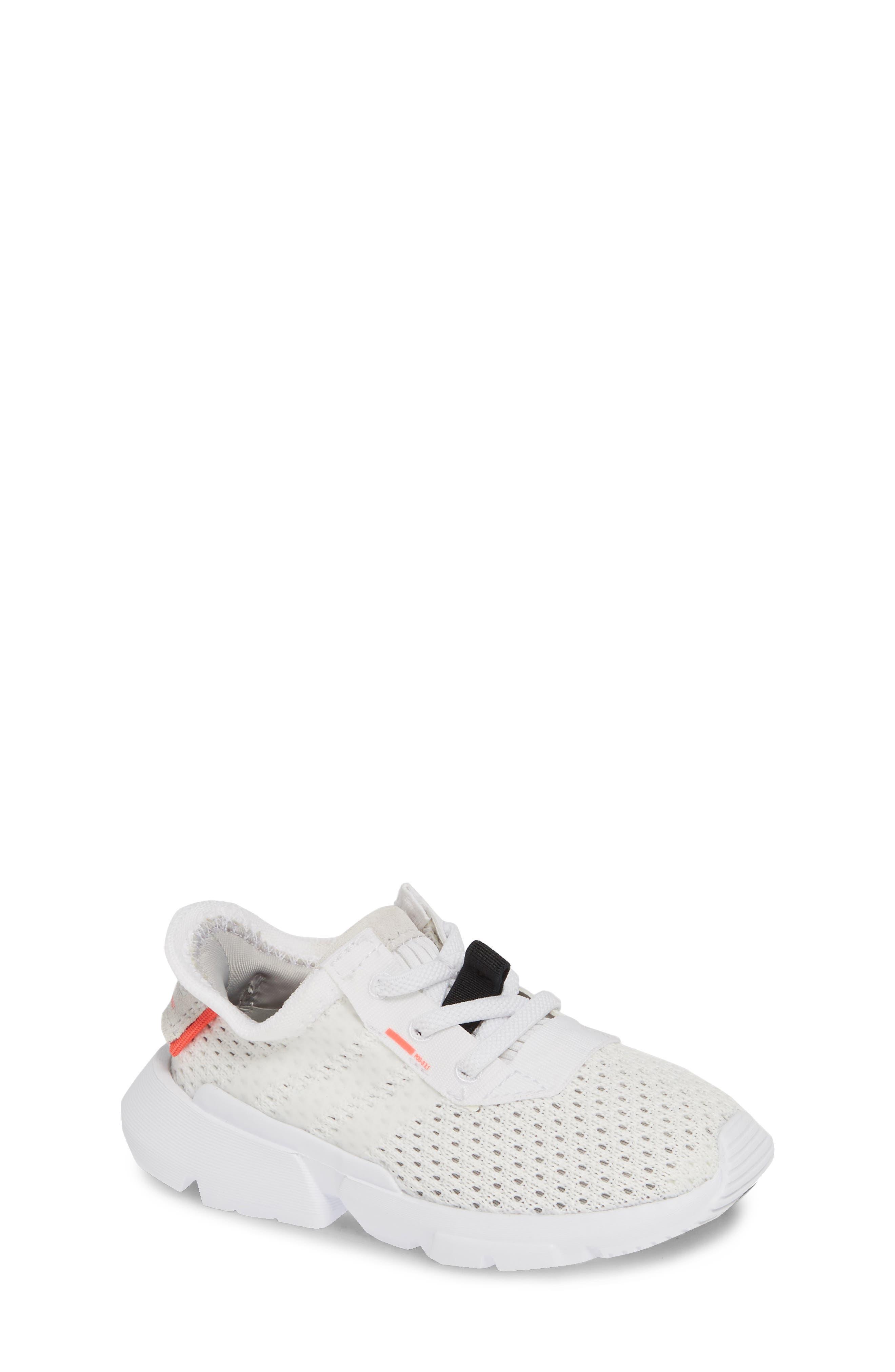 ADIDAS, POD-S3.1 Sneaker, Main thumbnail 1, color, WHITE/ WHITE/ SHOCK RED
