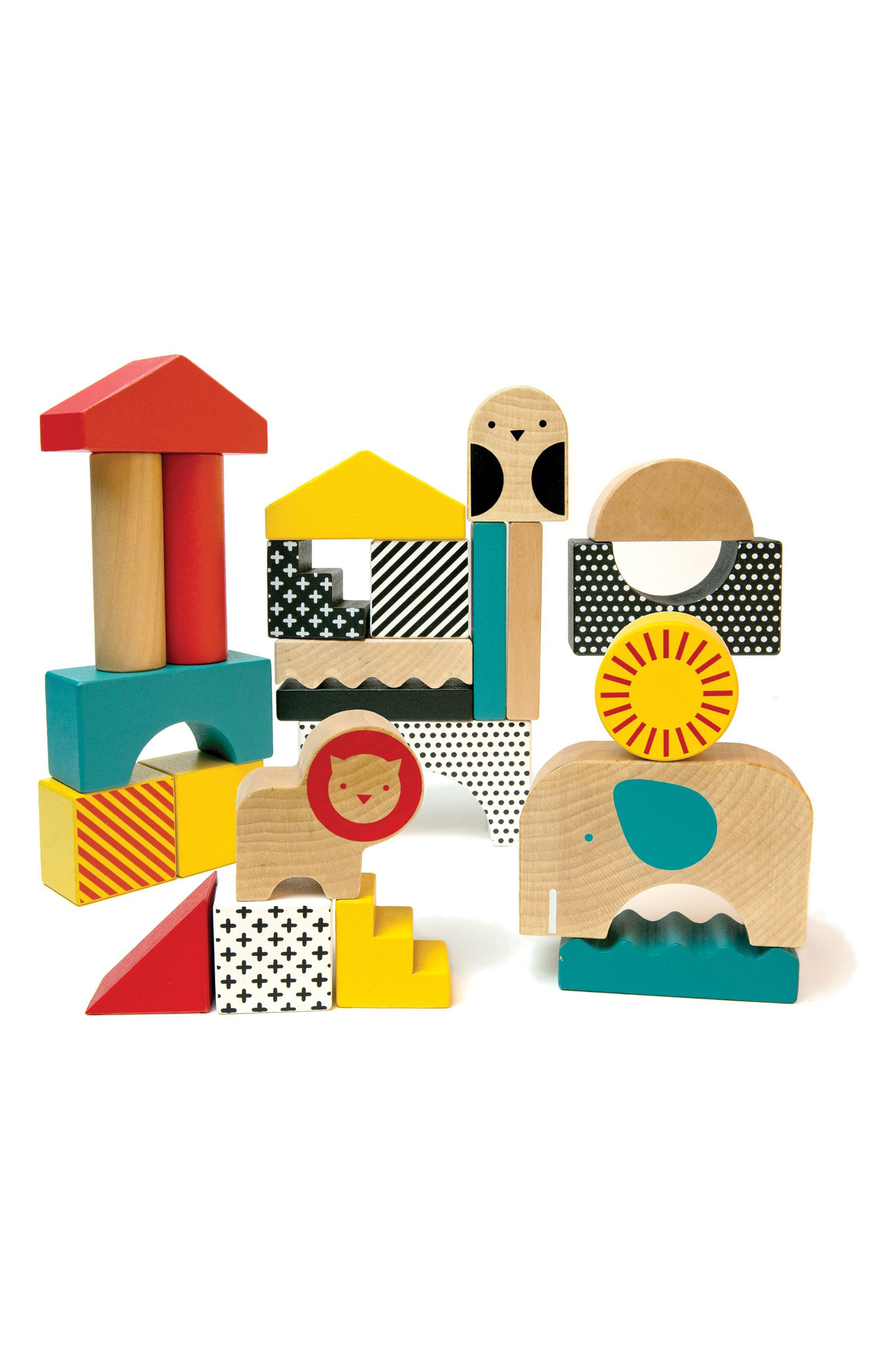 Toddler Wild  Wolf Animal Town 26Piece Wooden Blocks Set