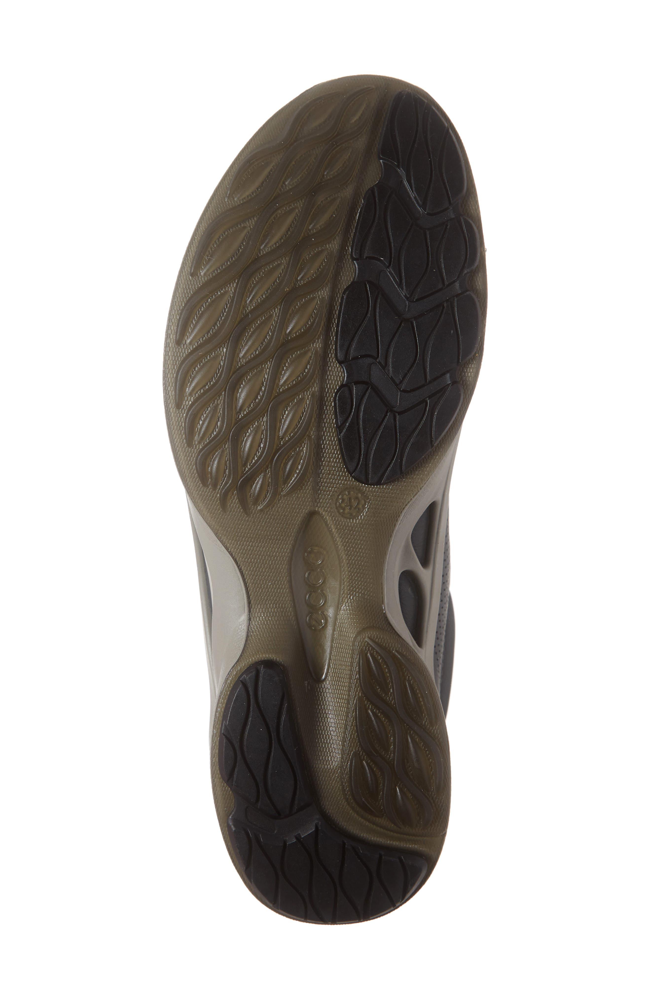 ECCO, 'BIOM Fjuel' Sneaker, Alternate thumbnail 6, color, DARK SHADOW LEATHER