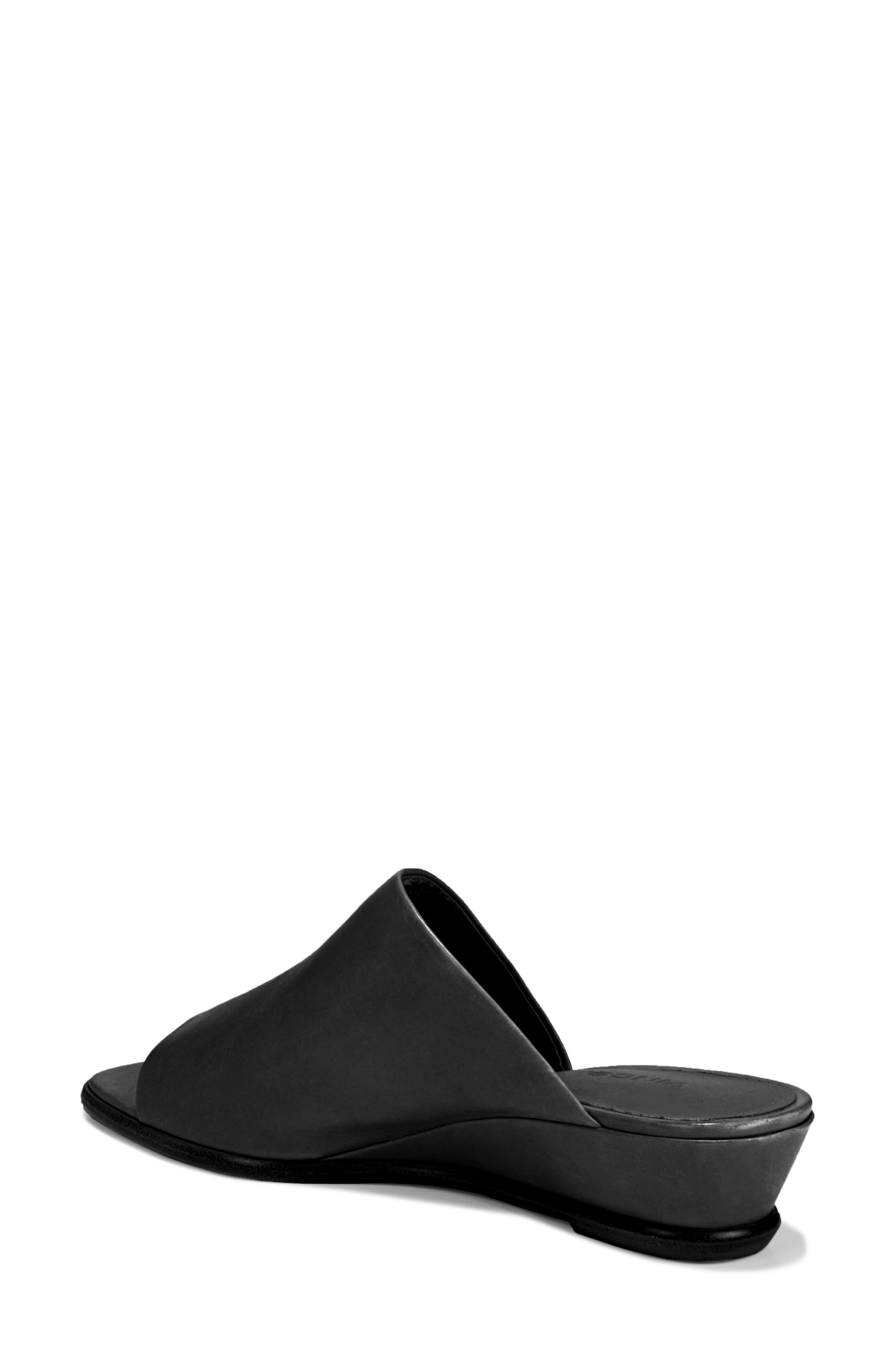 VINCE, Duvall Asymmetrical Wedge Sandal, Alternate thumbnail 2, color, BLACK