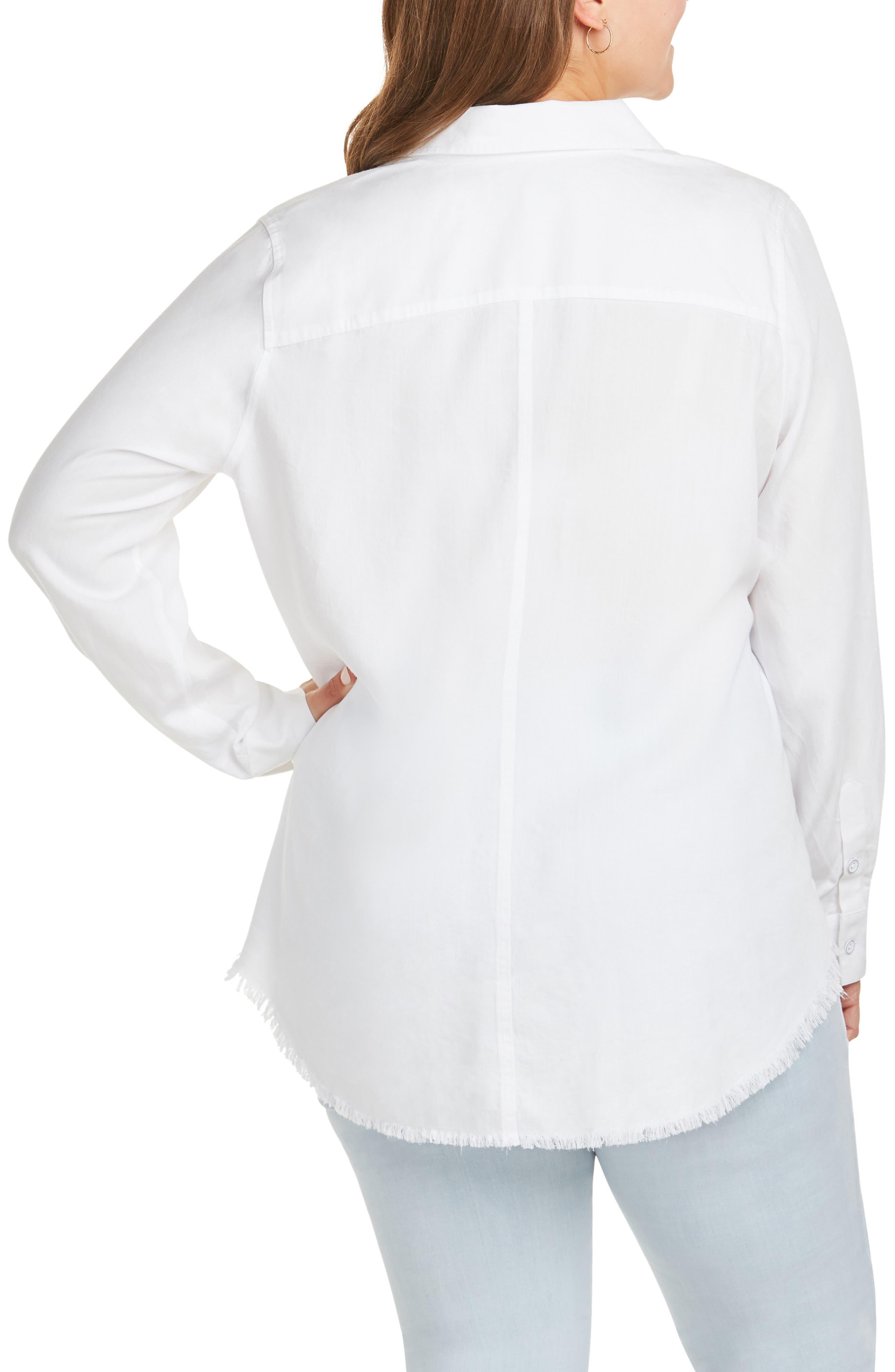 FOXCROFT, Haven Shirt, Alternate thumbnail 2, color, WHITE