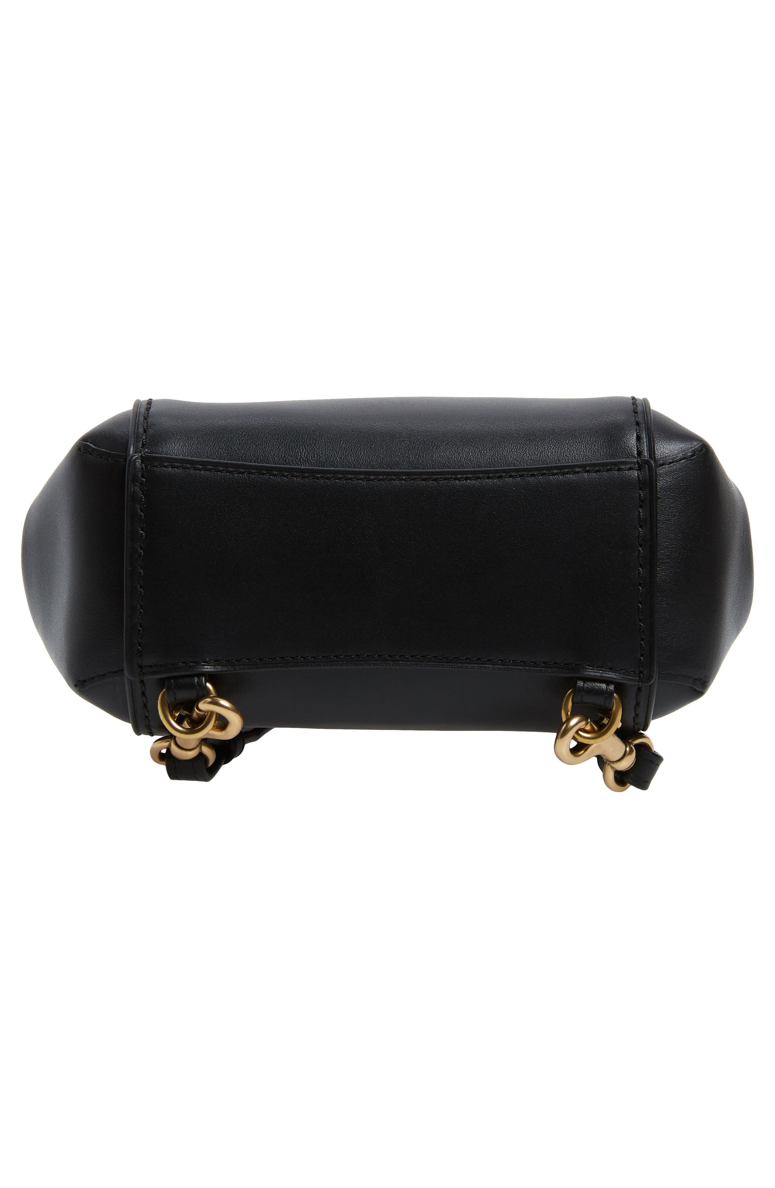 COACH, Parker 16 Convertible Calfskin Leather Backpack, Alternate thumbnail 8, color, B4/ BLACK