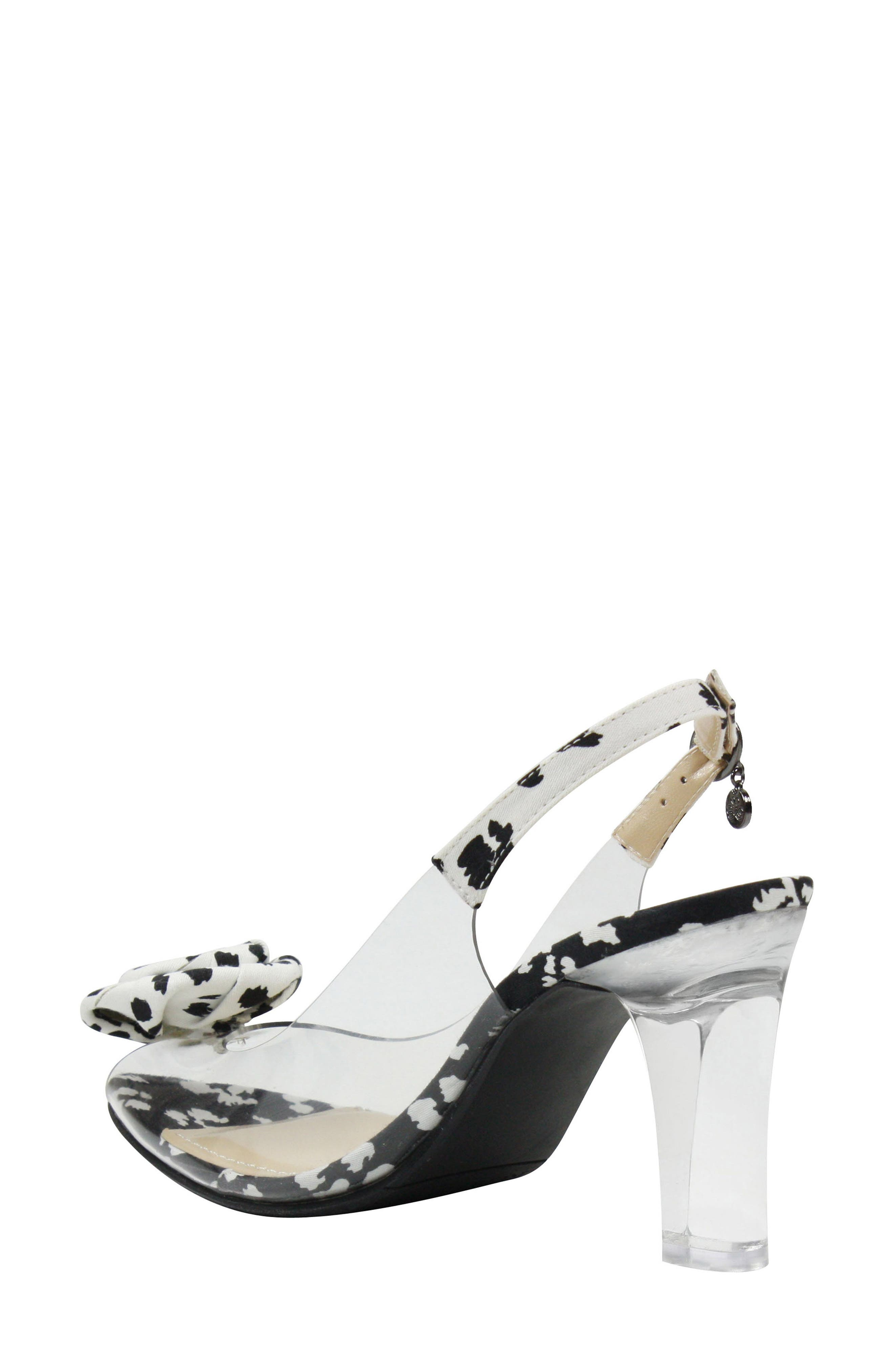 J. RENEÉ, Adoracion Slingback Sandal, Alternate thumbnail 2, color, CLEAR/ BLACK/ WHITE