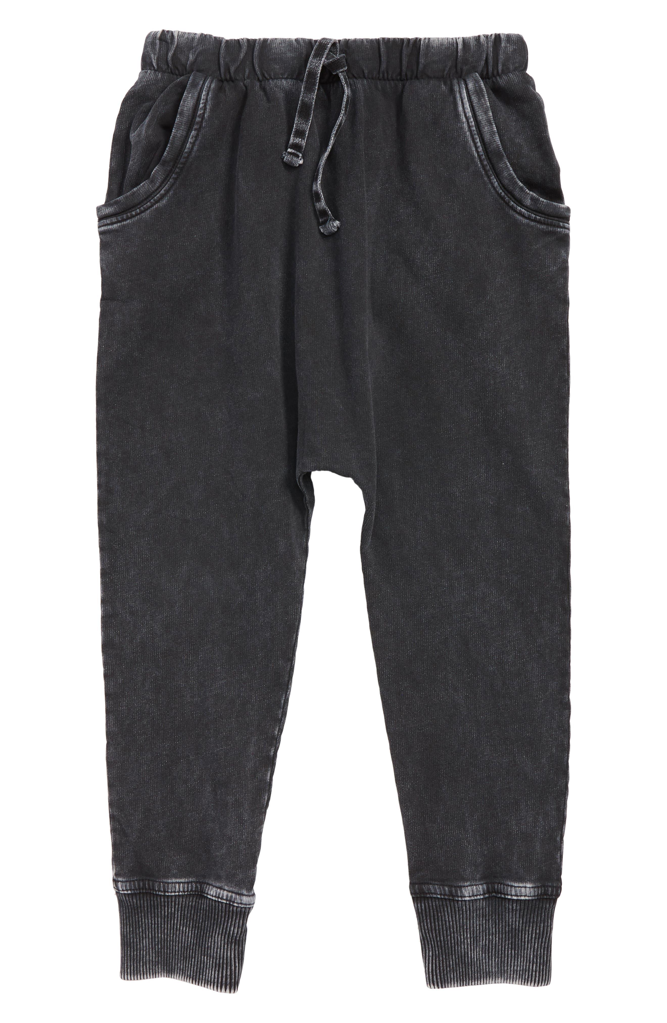 Boys Stem Superwash Sweatpants Size 7  Black